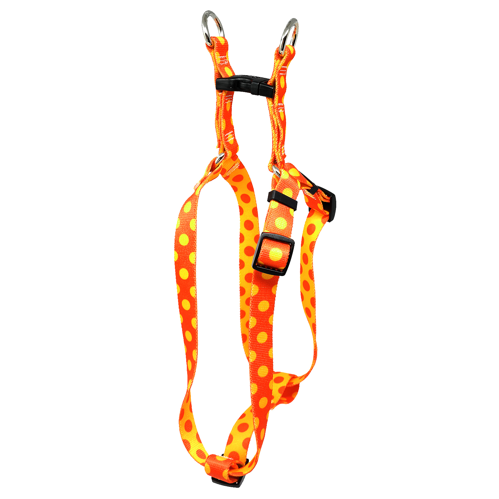 Orange & Goldenrod Polka Step-In Harness