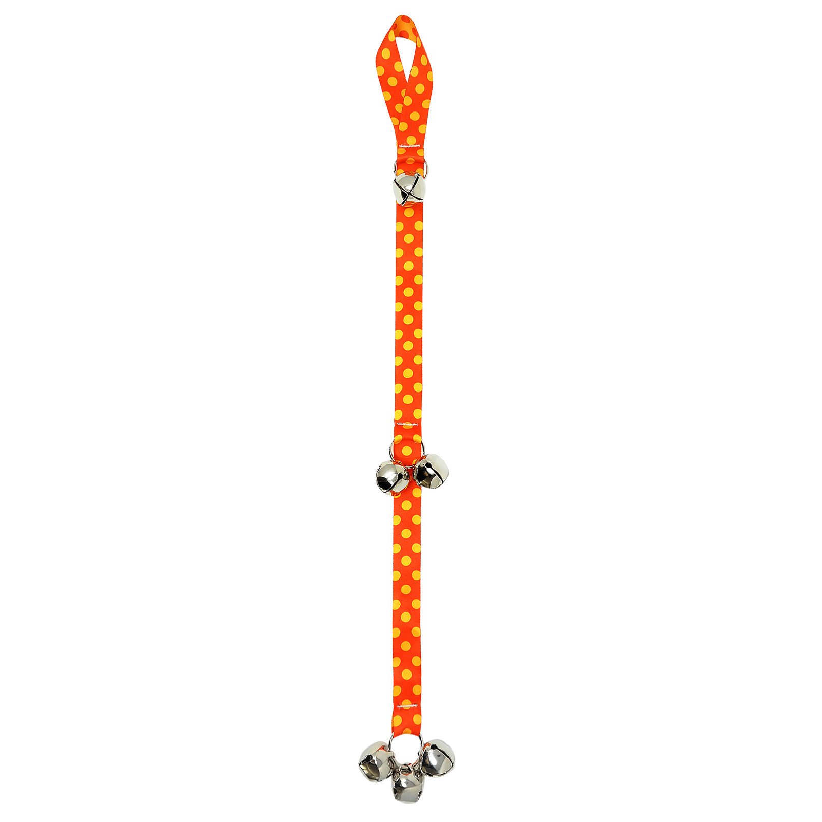 Orange & Goldenrod Polka Ding Dog Bell