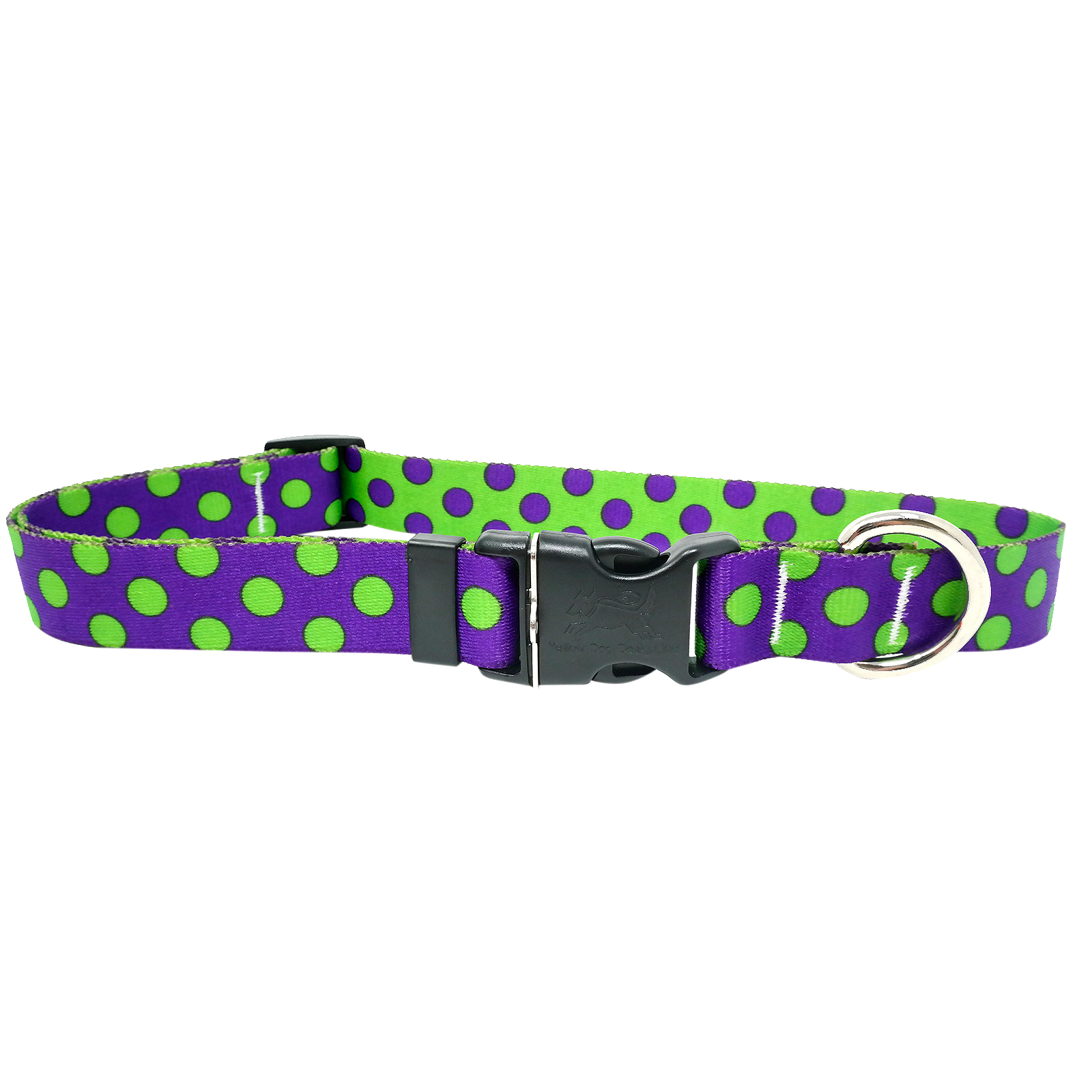 Purple & Spring Green Polka Standard Collar