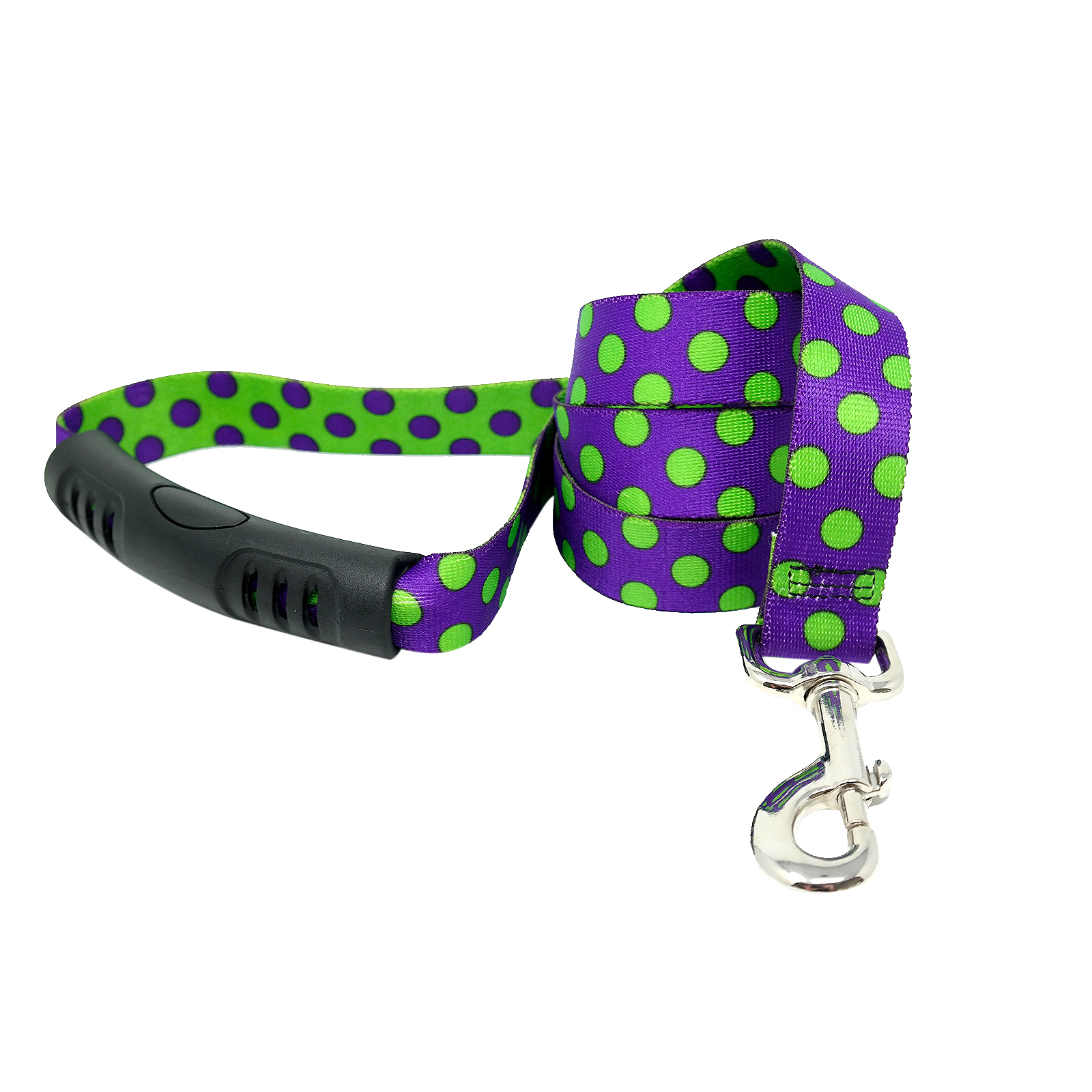 Purple & Spring Green Polka EZ-Lead