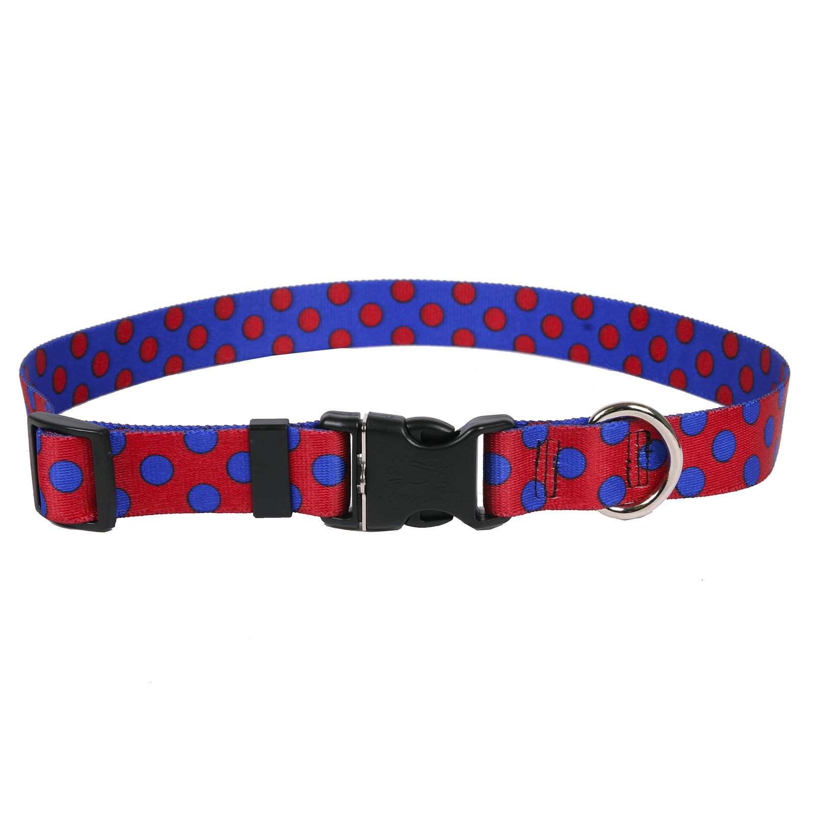 Red & Royal Blue Polka Standard Collar