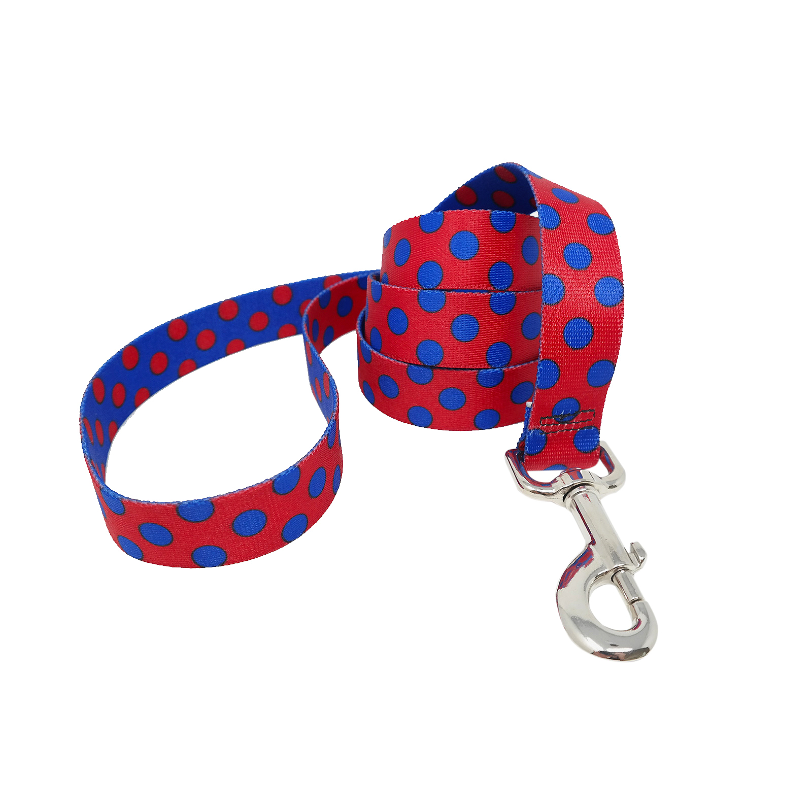 Red & Royal Blue Polka Lead