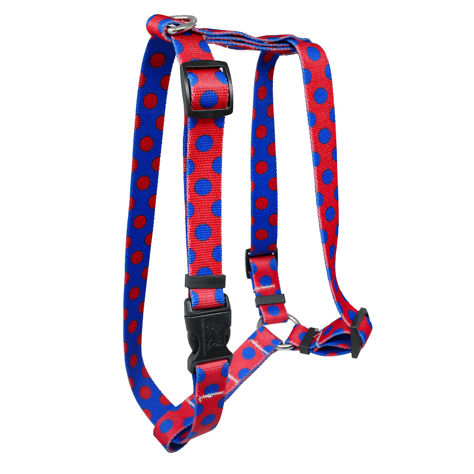 Red & Royal Blue Polka Roman H Harness