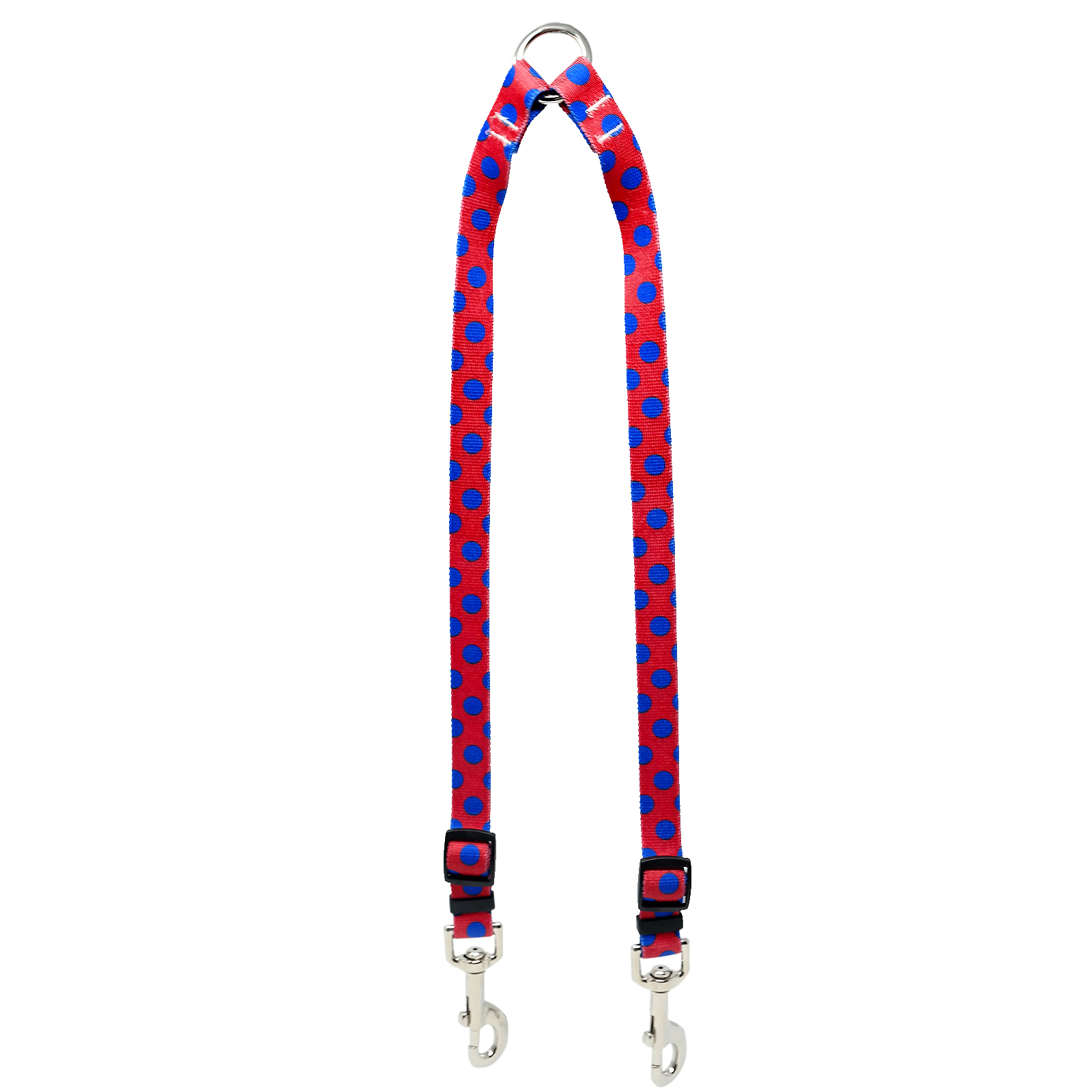 Red & Royal Blue Polka Coupler Lead