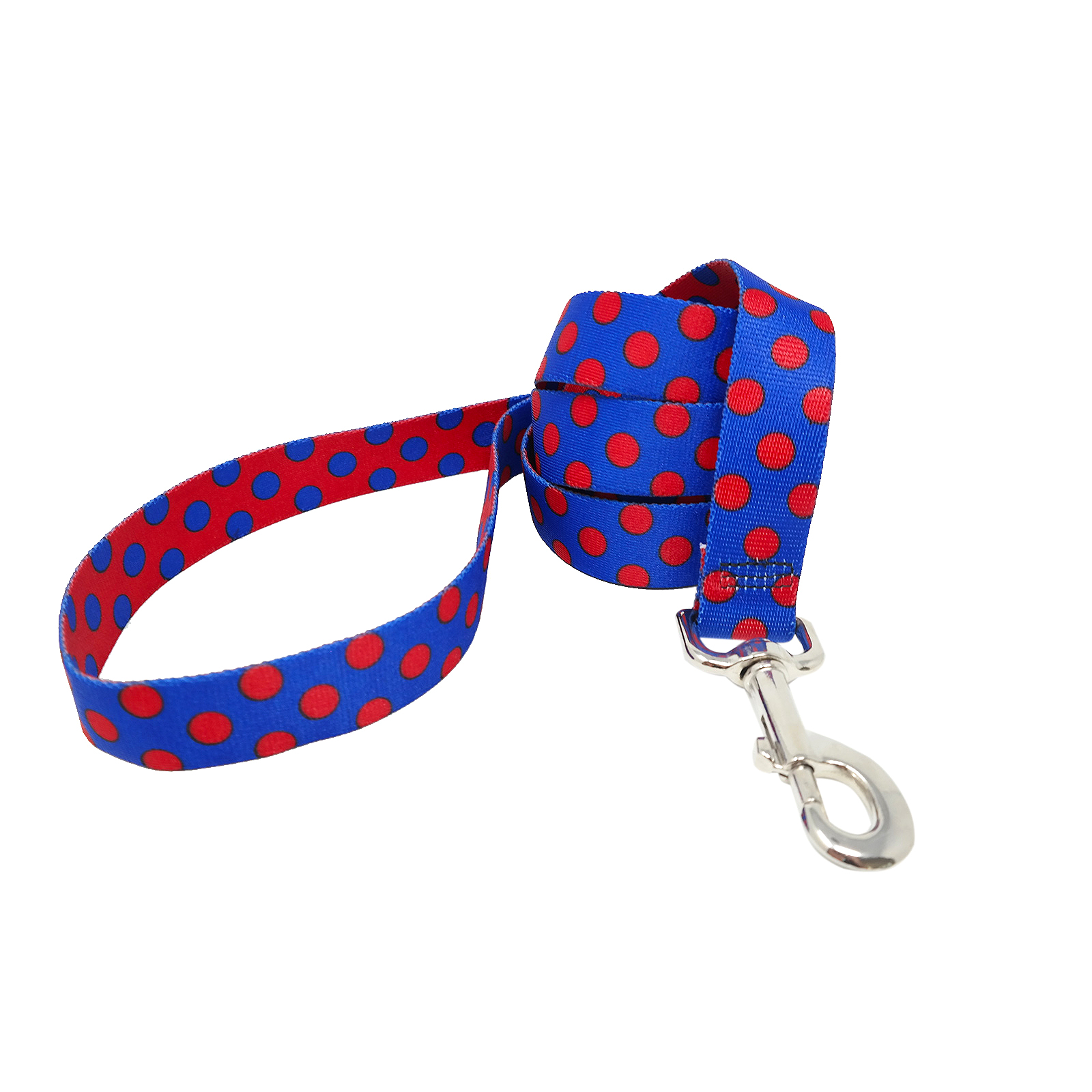 Royal Blue & Red Polka Lead