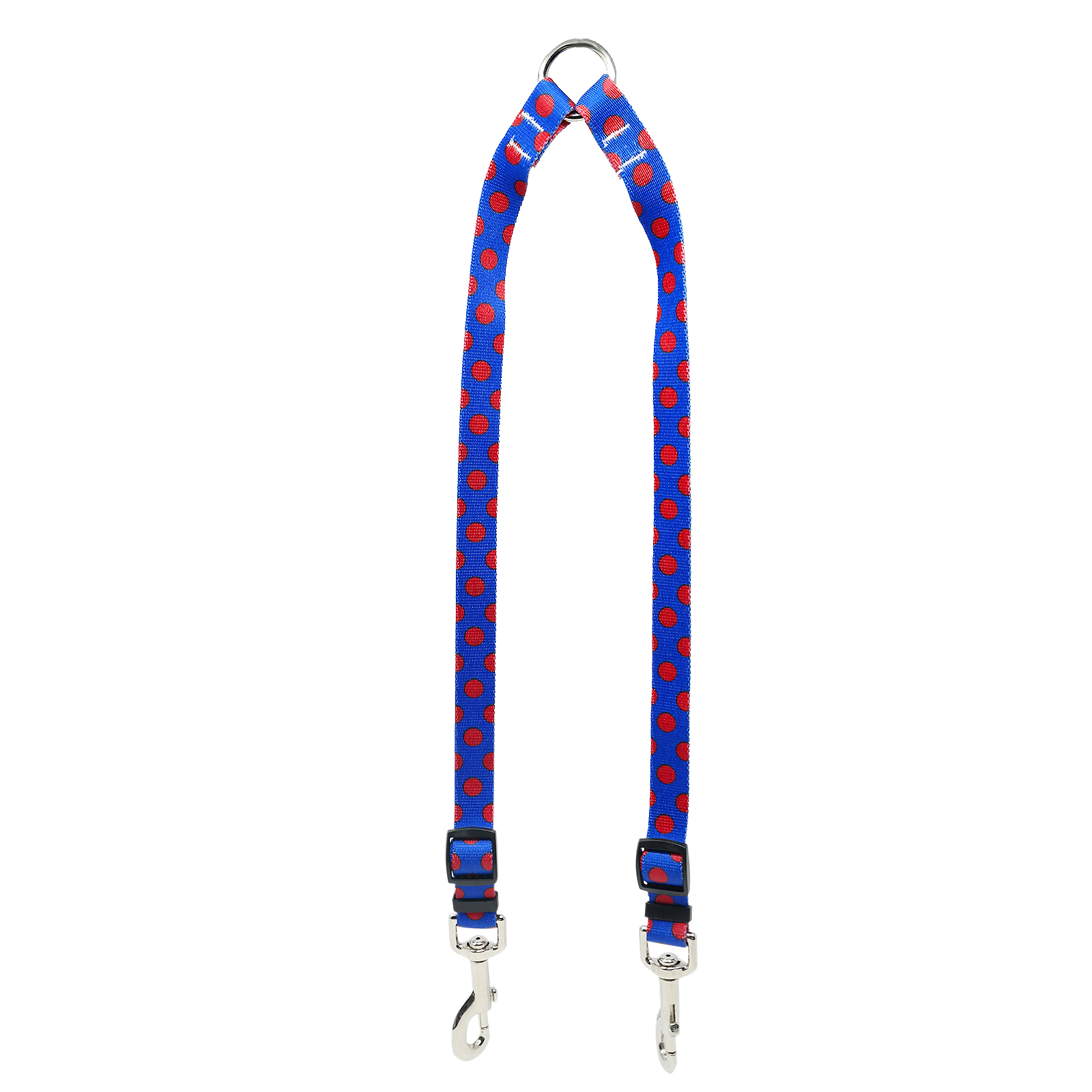 Royal Blue & Red Polka Coupler Lead