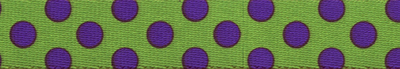 Spring Green & Purple Polka