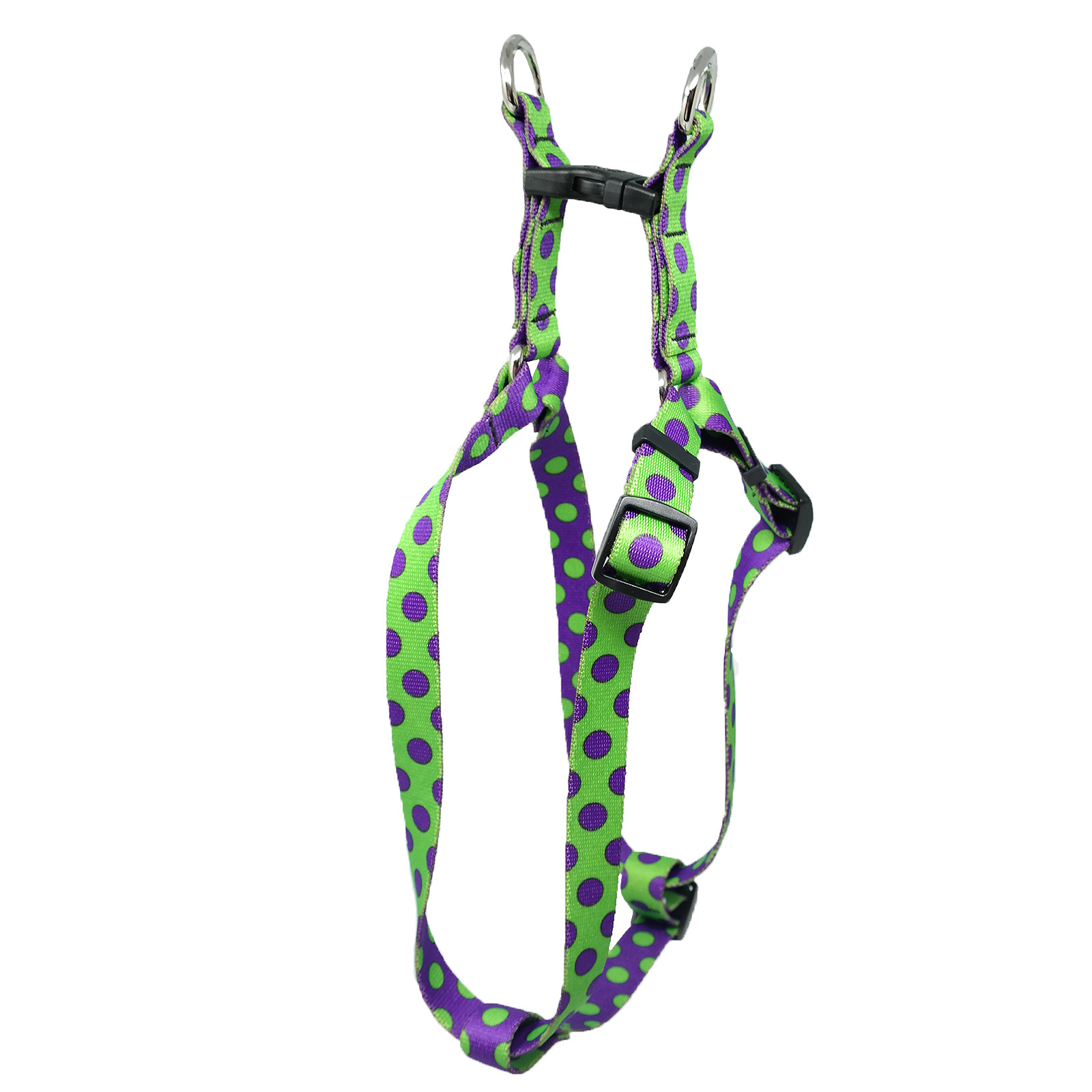 Spring Green & Purple Polka Step-In Harness