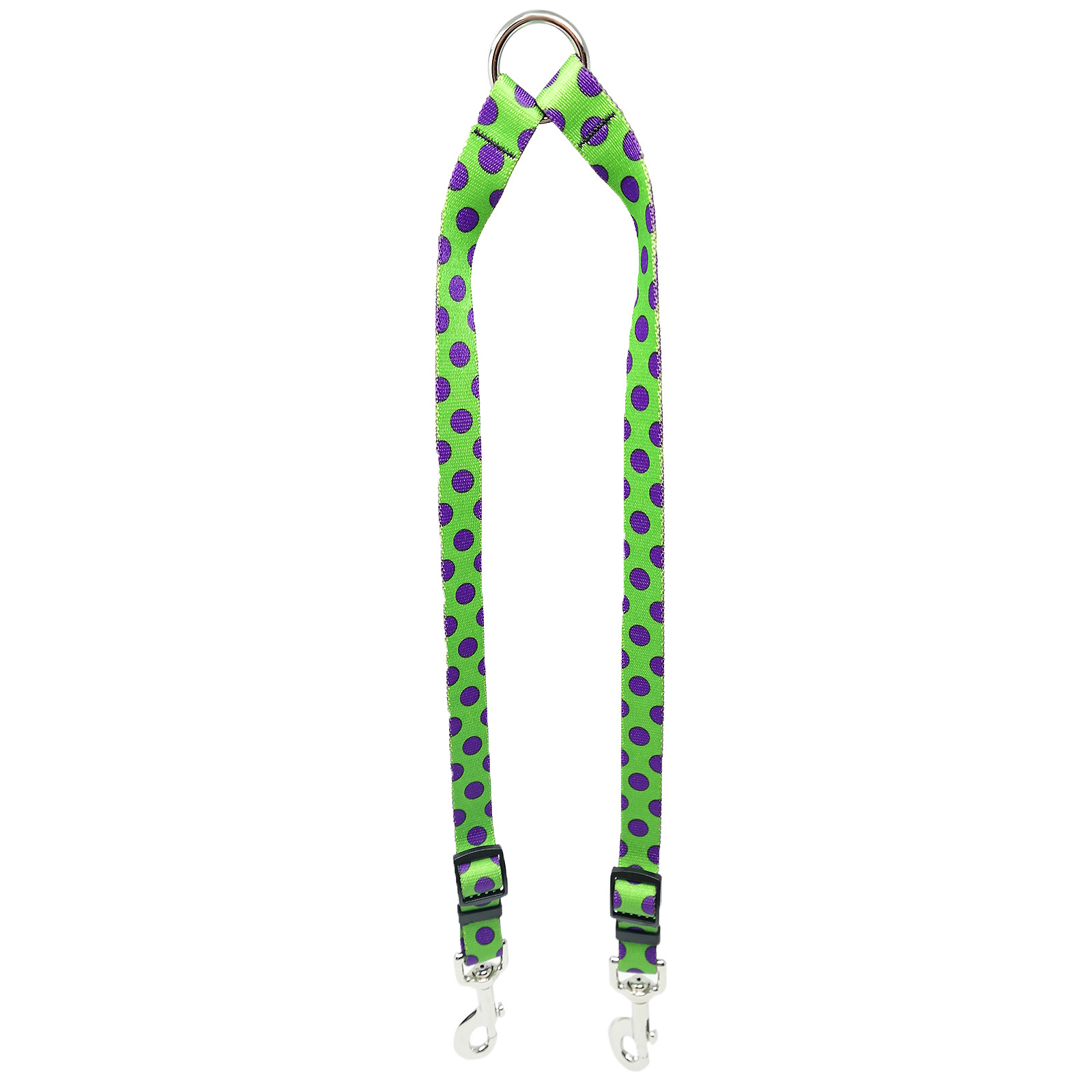 Spring Green & Purple Polka Coupler Lead