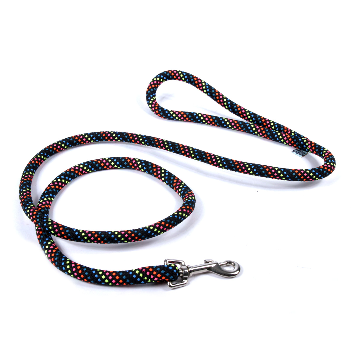 Round Braided Multicolor/Black Rope Lead