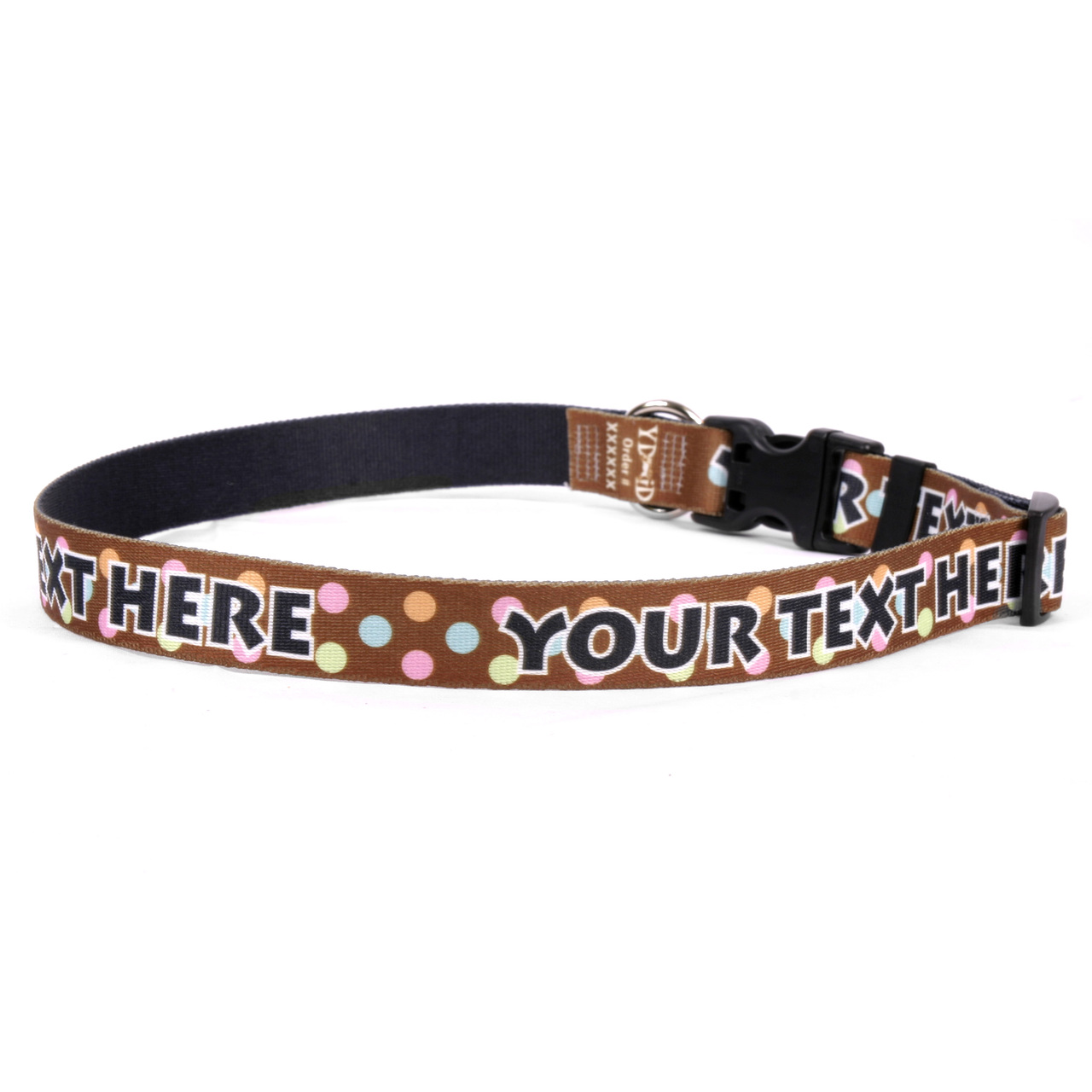 YDiD Personalized Neopolitan Polka Dots Dog Collar