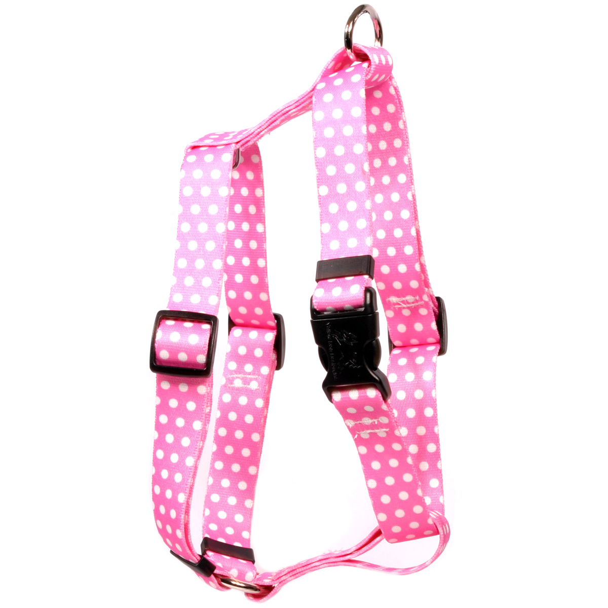 New Pink Polka Dot Roman H Harness