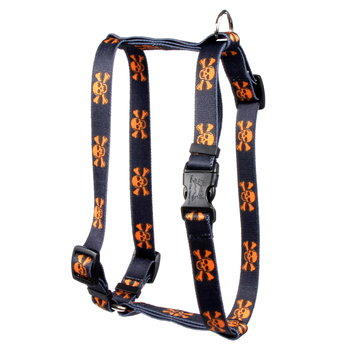 Orange and Black Skulls Roman H Harness