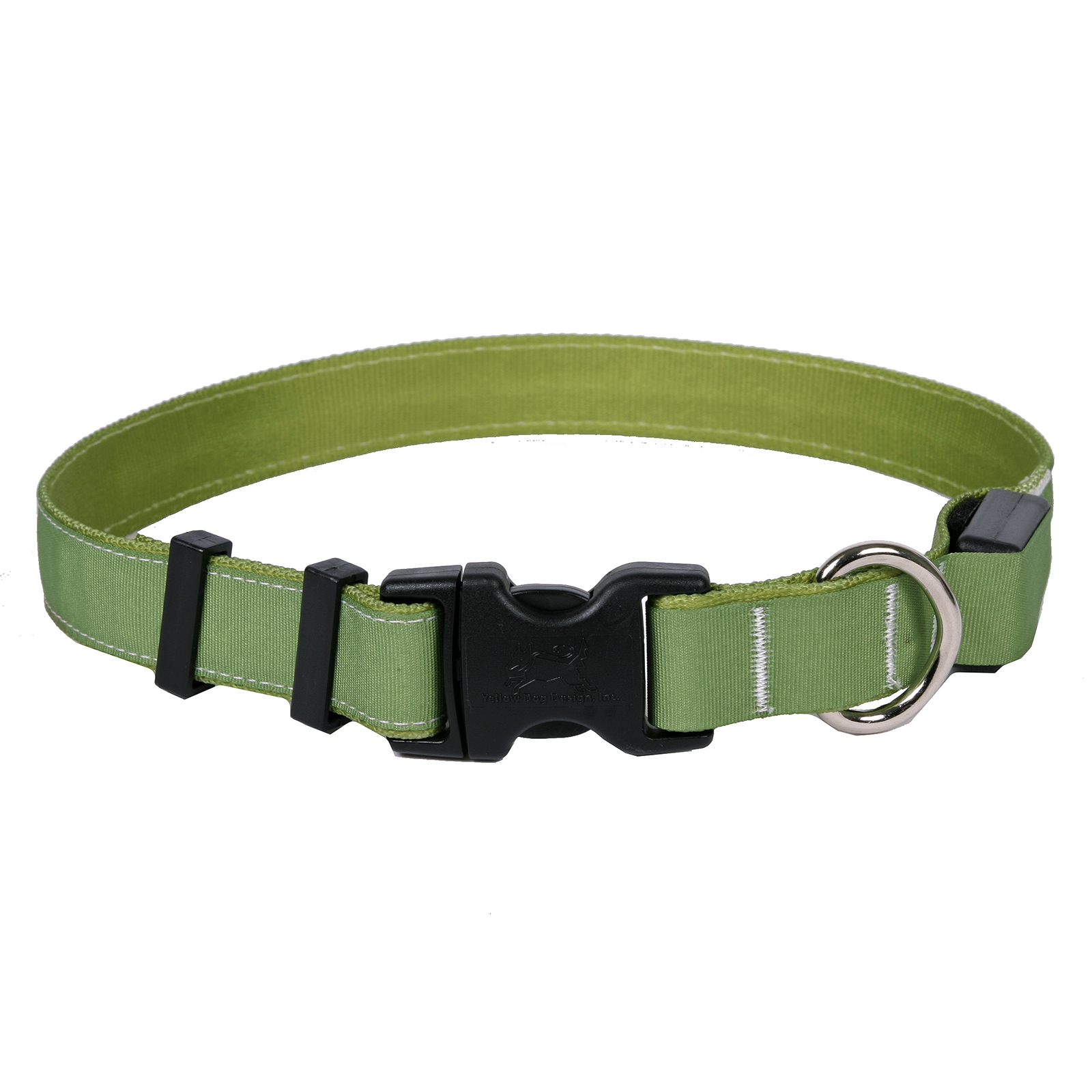 Solid Olive ORION LED Dog Collar