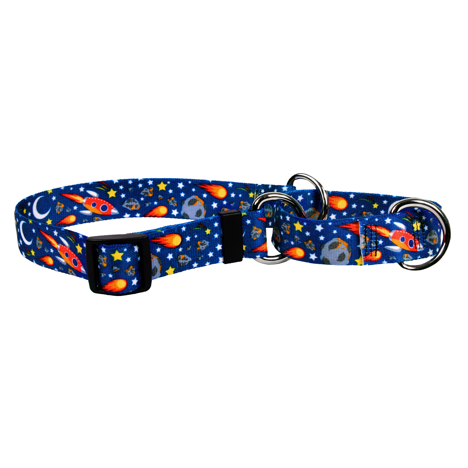 Outer Space Blue Martingale Collar