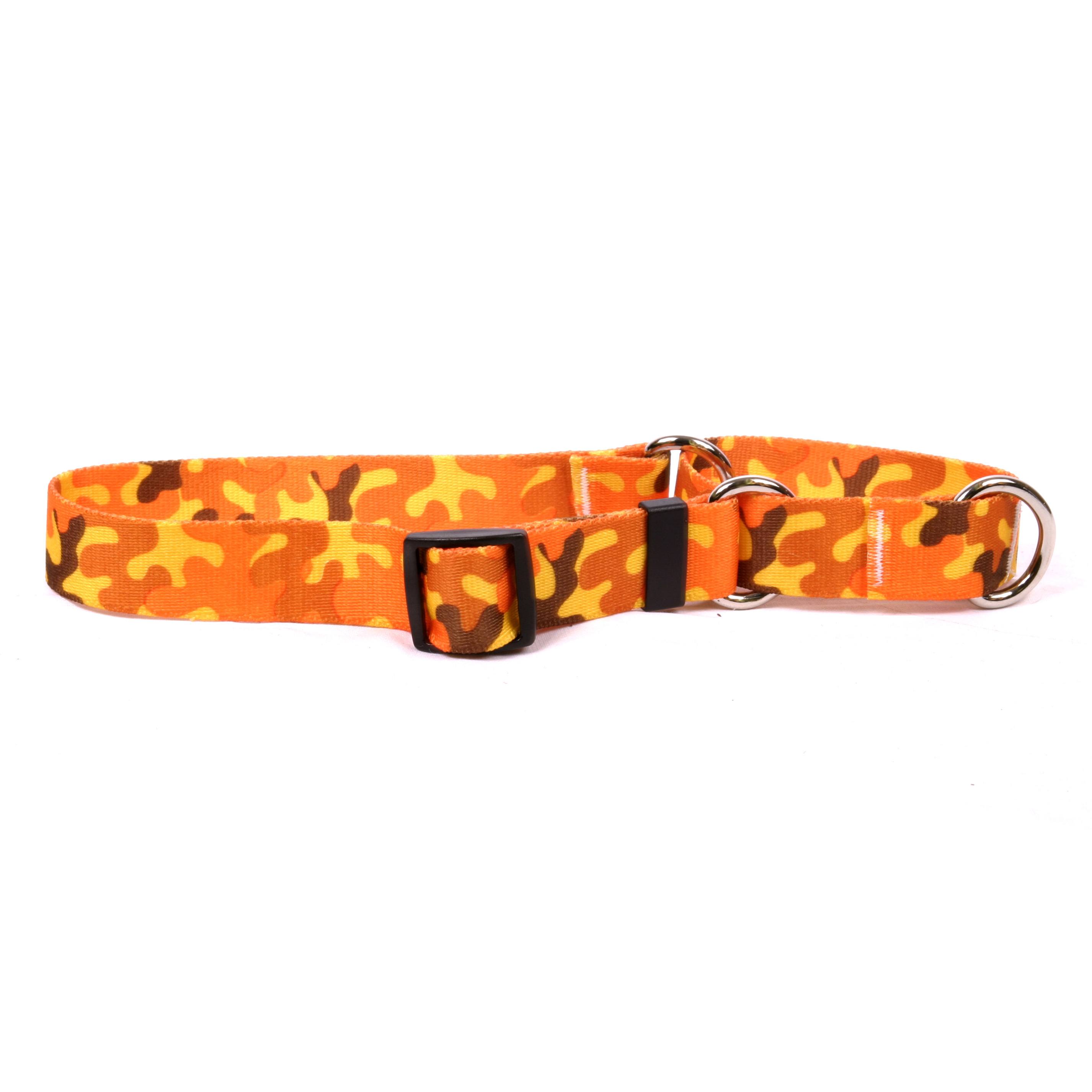 Orange Camo Martingale Collar