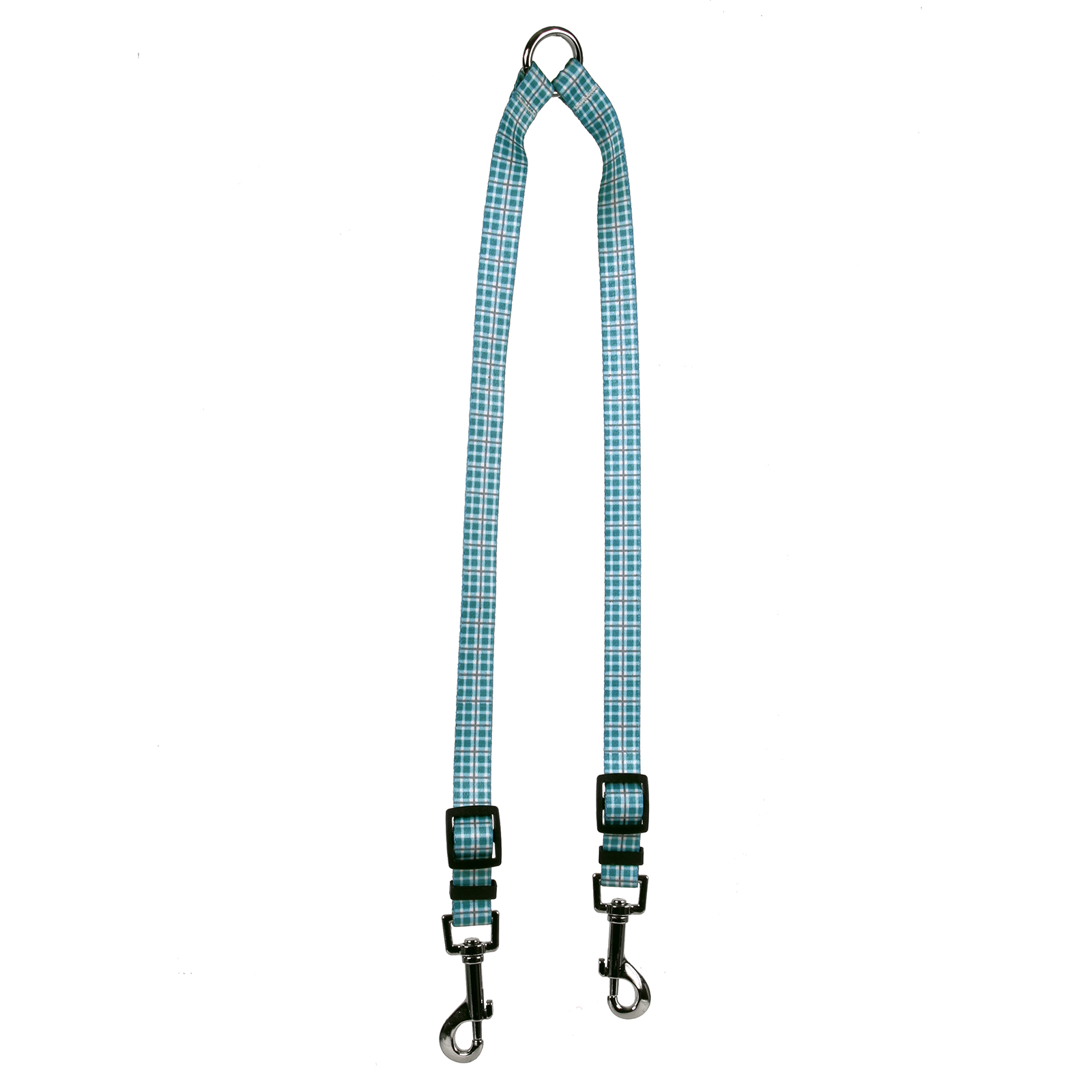 Preppy Plaid Teal & Gray  Coupler Lead