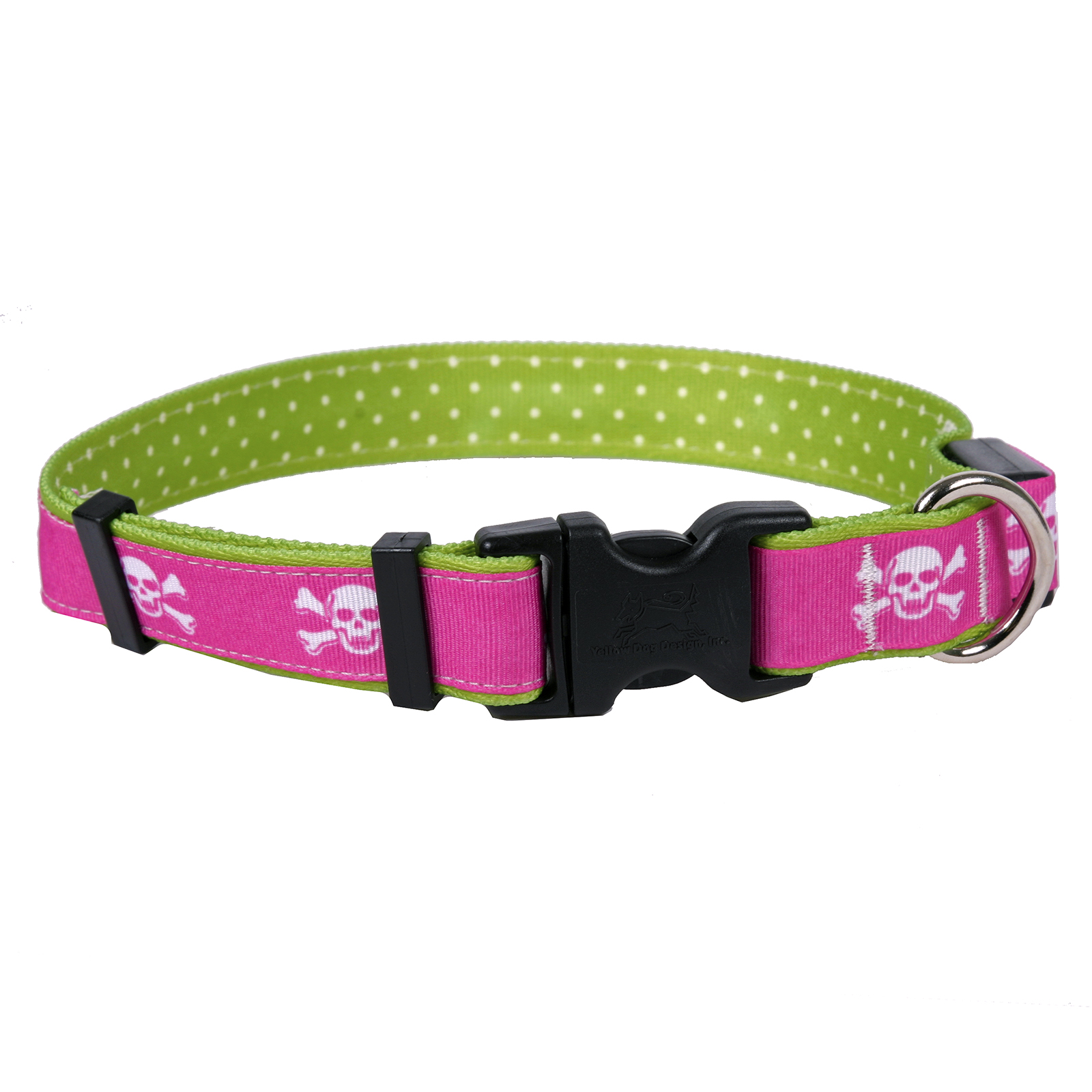 Pink Skulls ORION LED Dog Collar