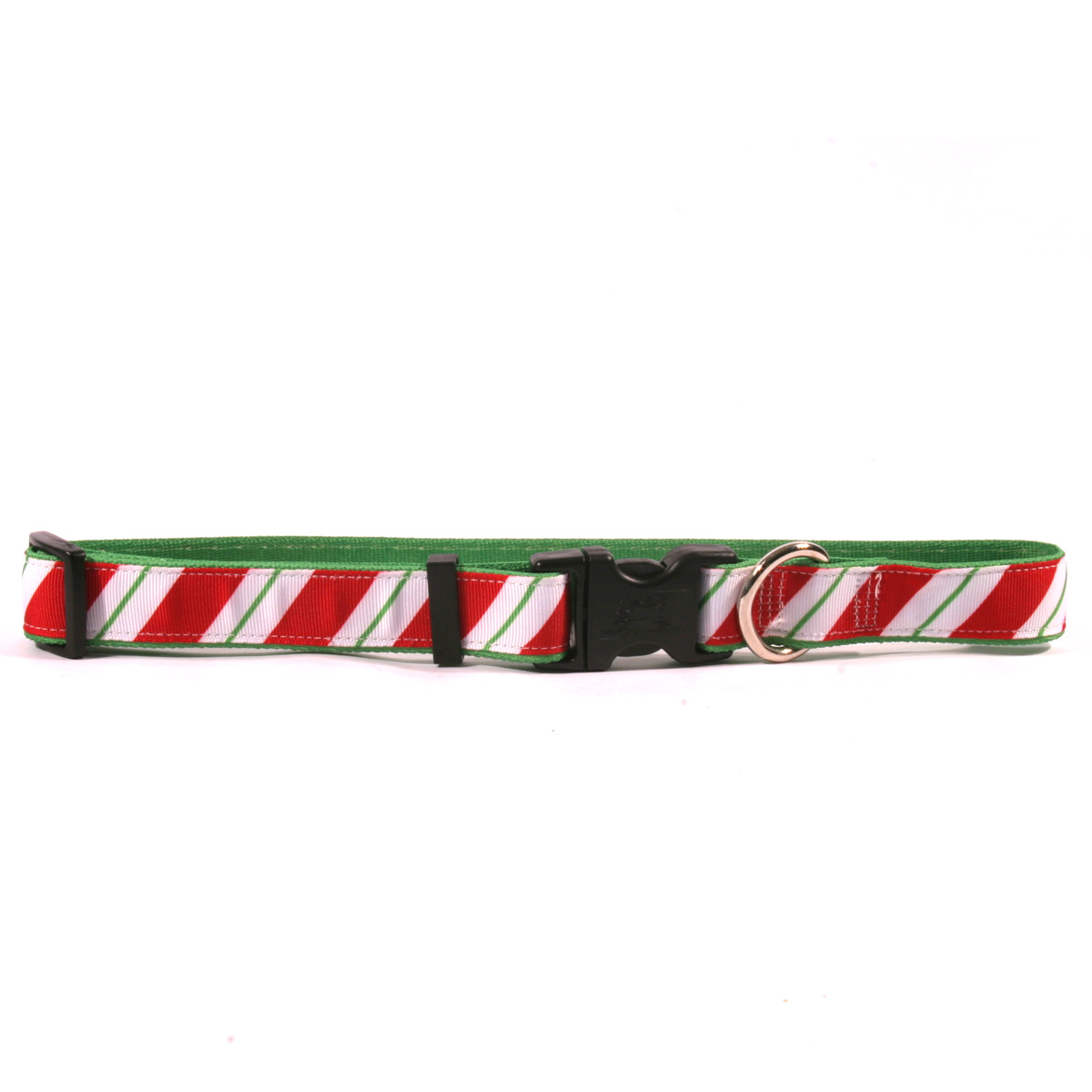 Peppermint Stick on Kelly Green Ribbon Collar