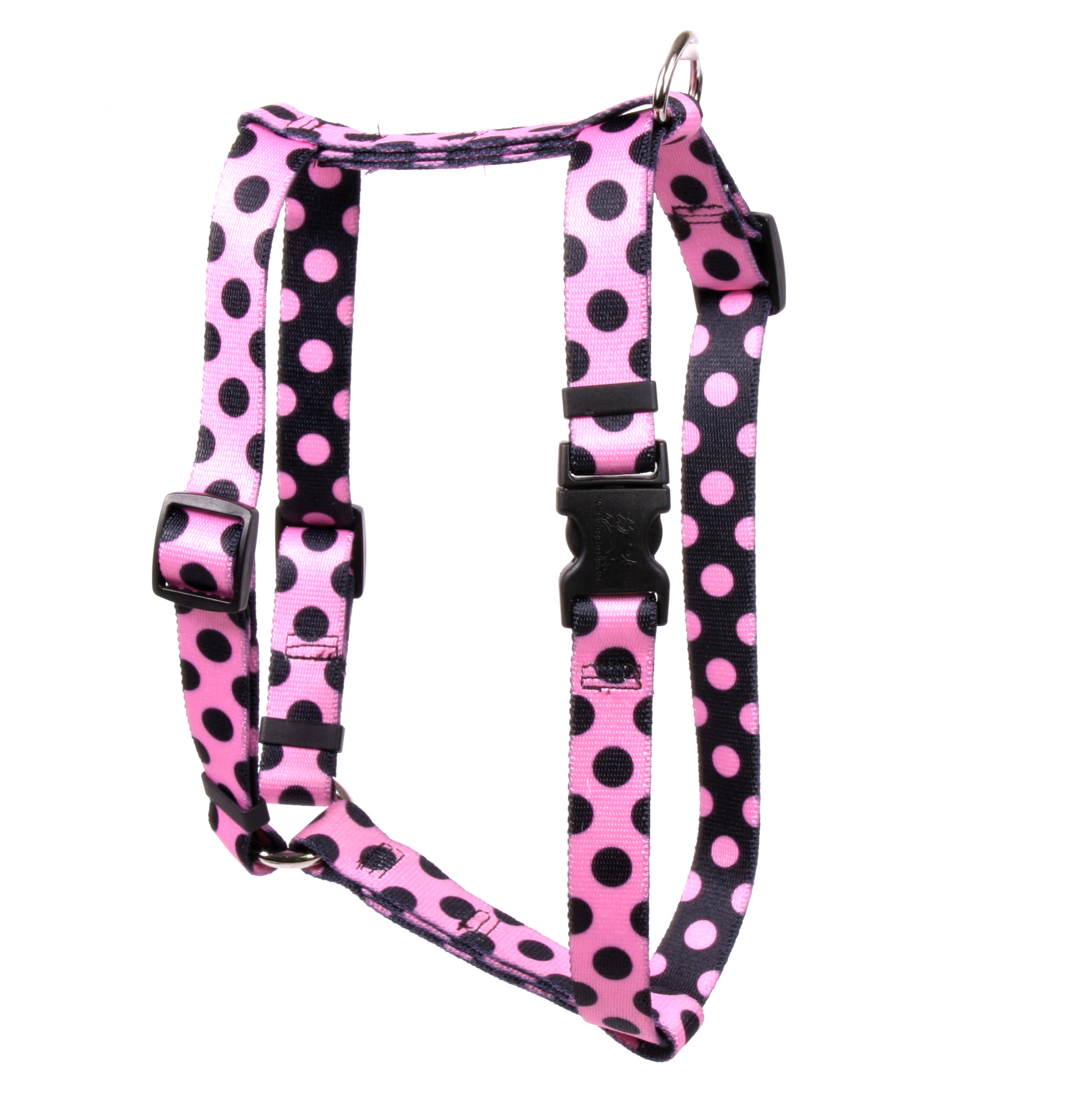 Pink and Black Polka Dot Roman H Harness