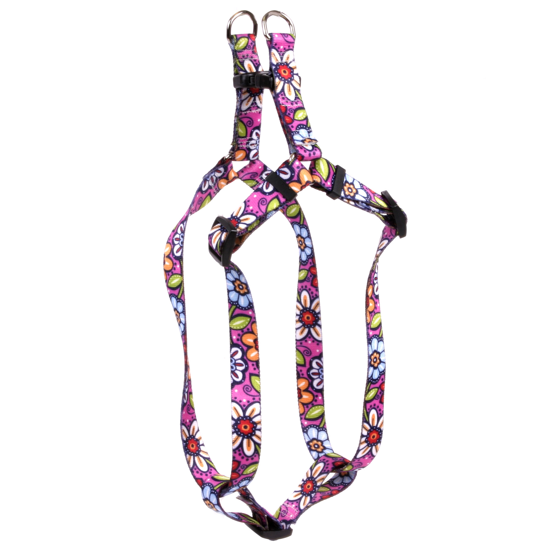 Pink Garden Step-In Harness