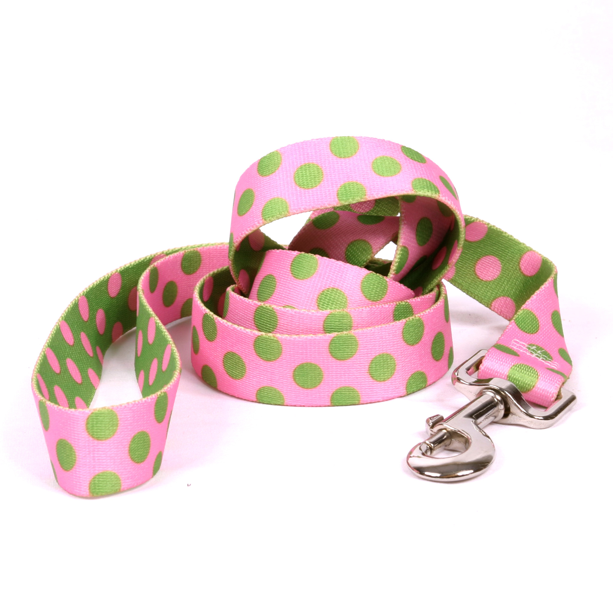 Pink and Green Polka Dot Lead