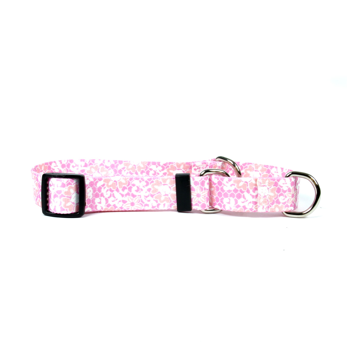Pink Lace Martingale Collar