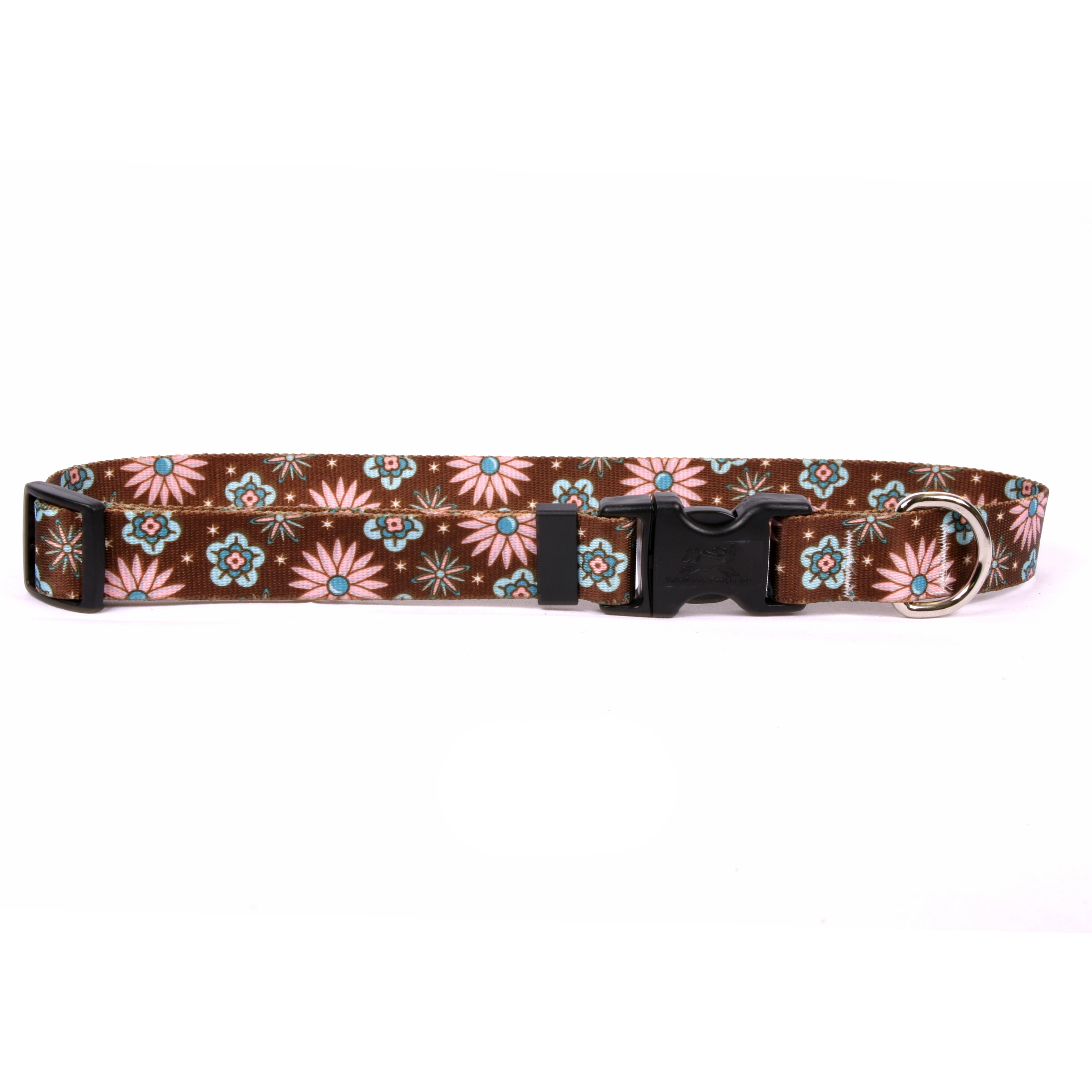 Pink and Teal Flowers Standard Collar