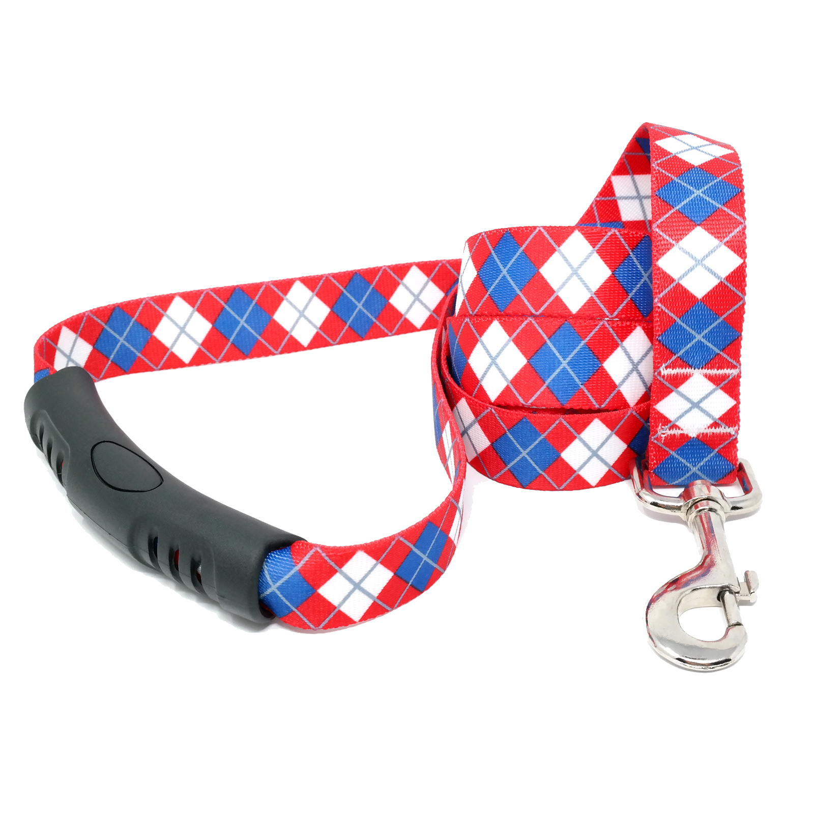 Red & Blue Argyle EZ-Lead