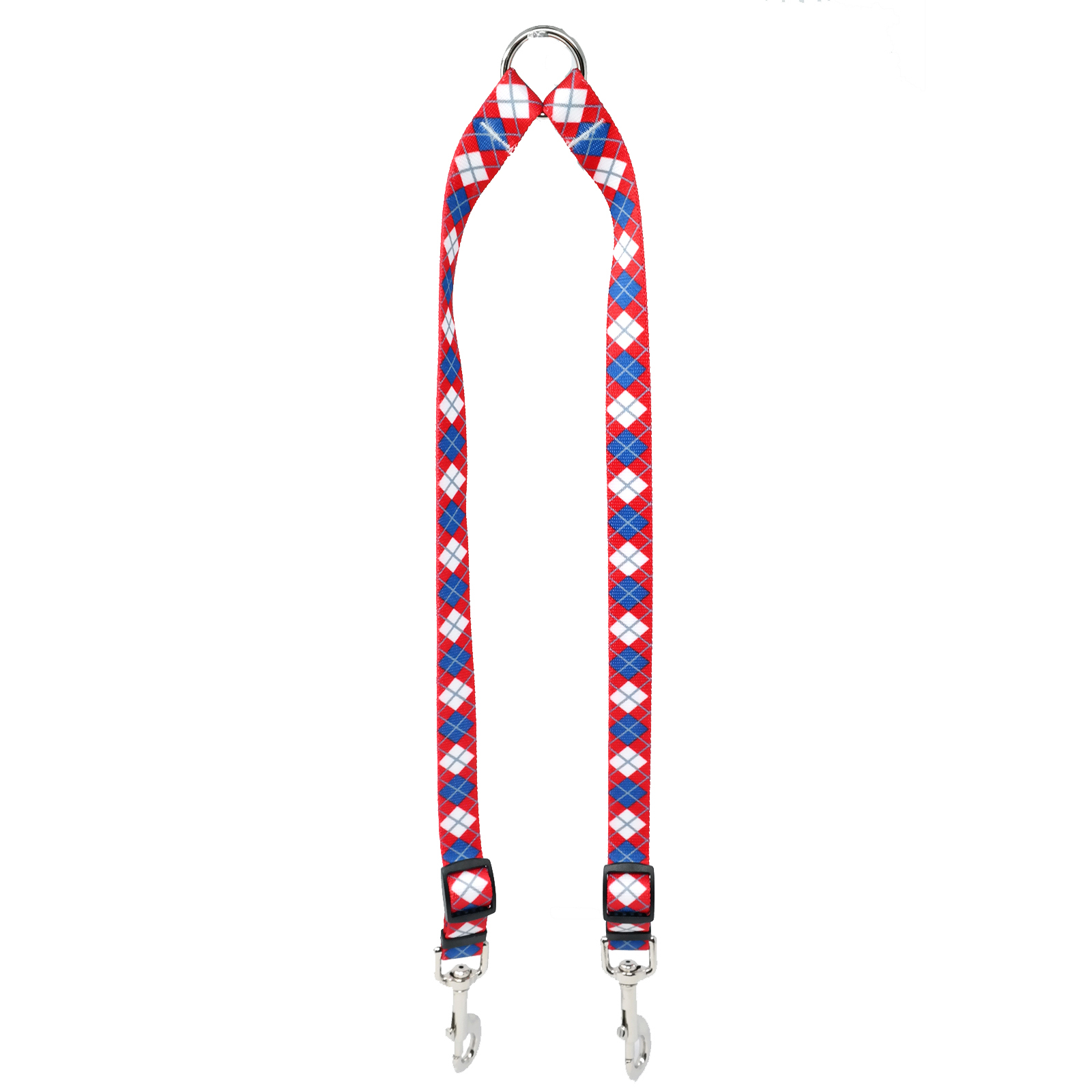 Red & Blue Argyle Coupler Lead