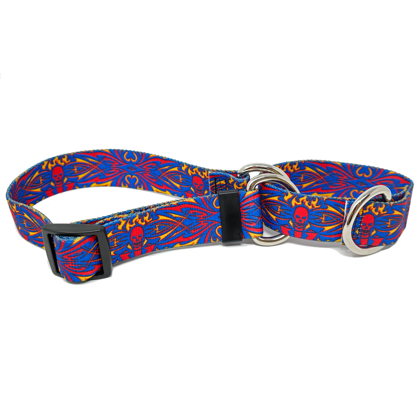 Red Skull Tattoo Martingale Collar