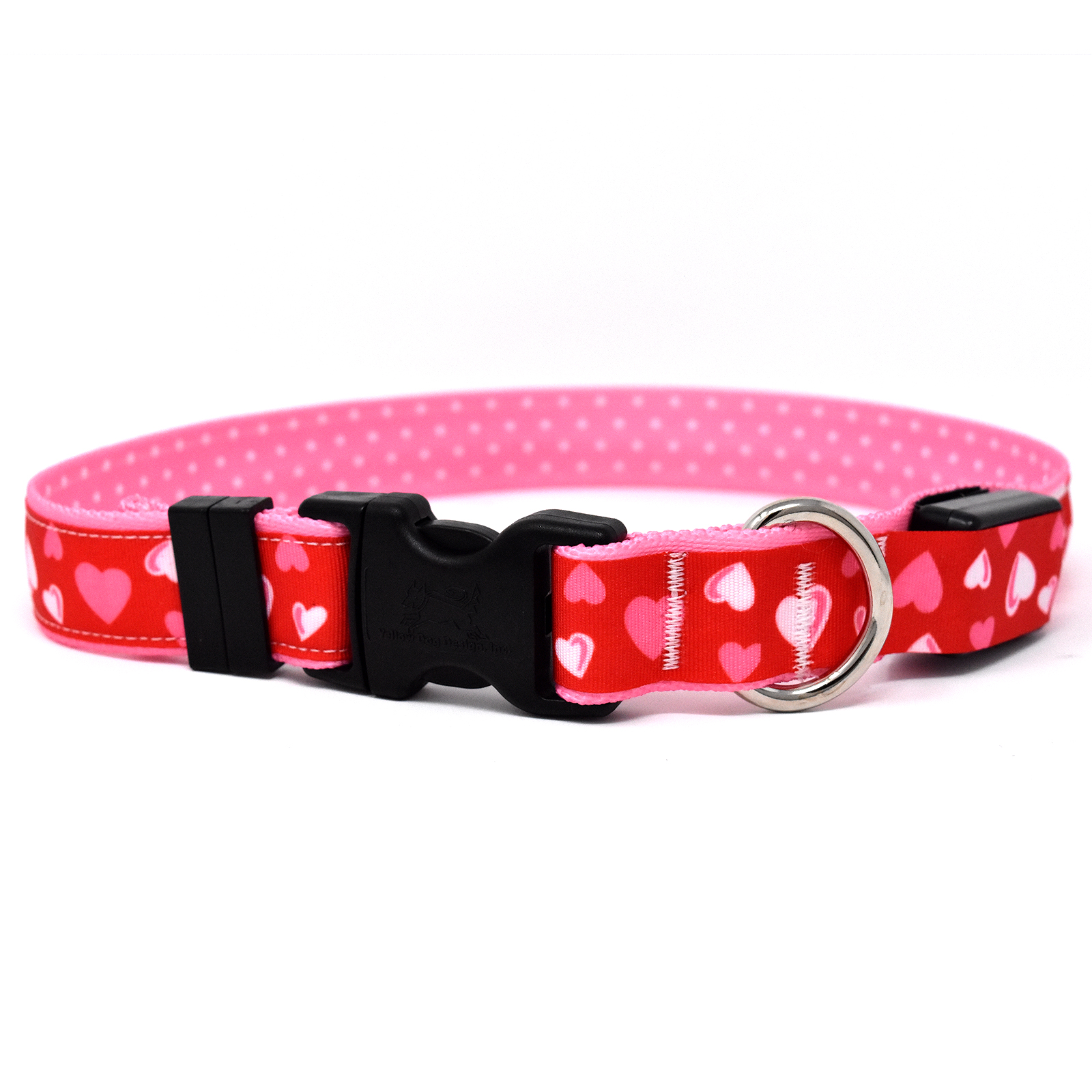 Red Hearts ORION LED Dog Collar