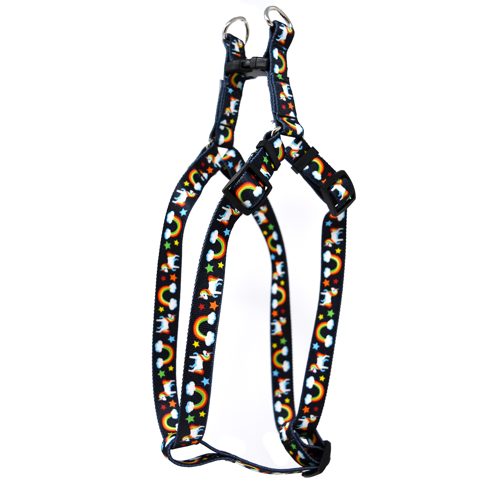 Rainbow Unicorn Black  Step-In Harness