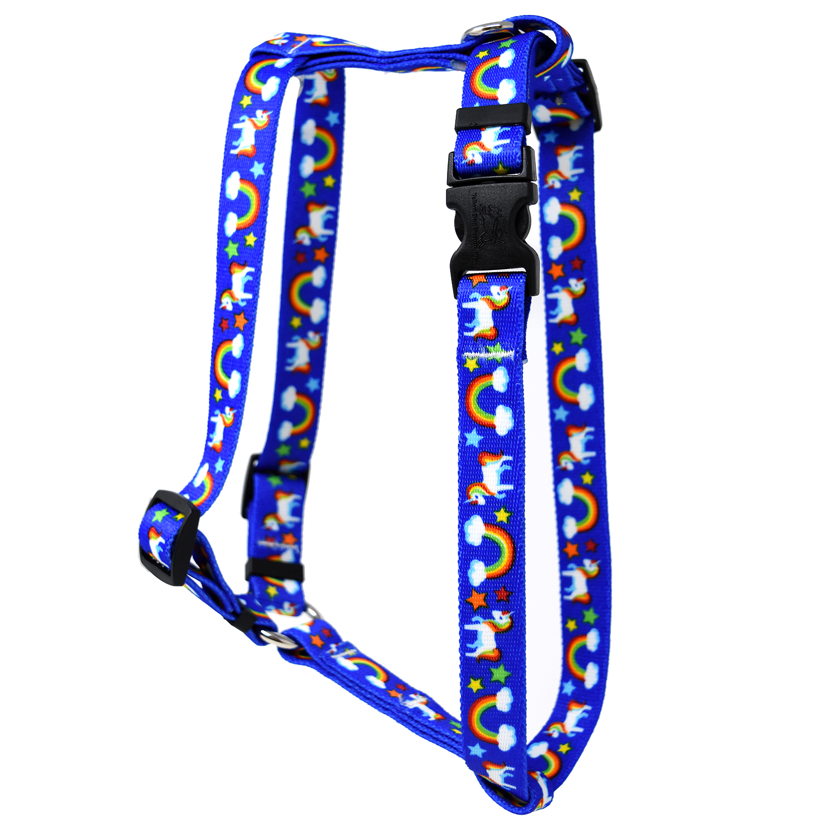 Rainbow Unicorn Blue  Roman H Harness