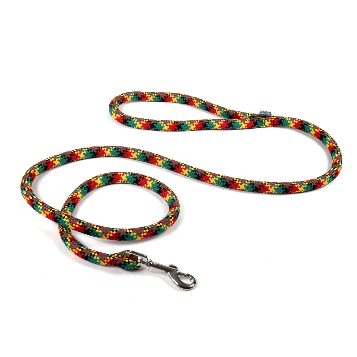 Round Braided Rasta Colors Rope Lead