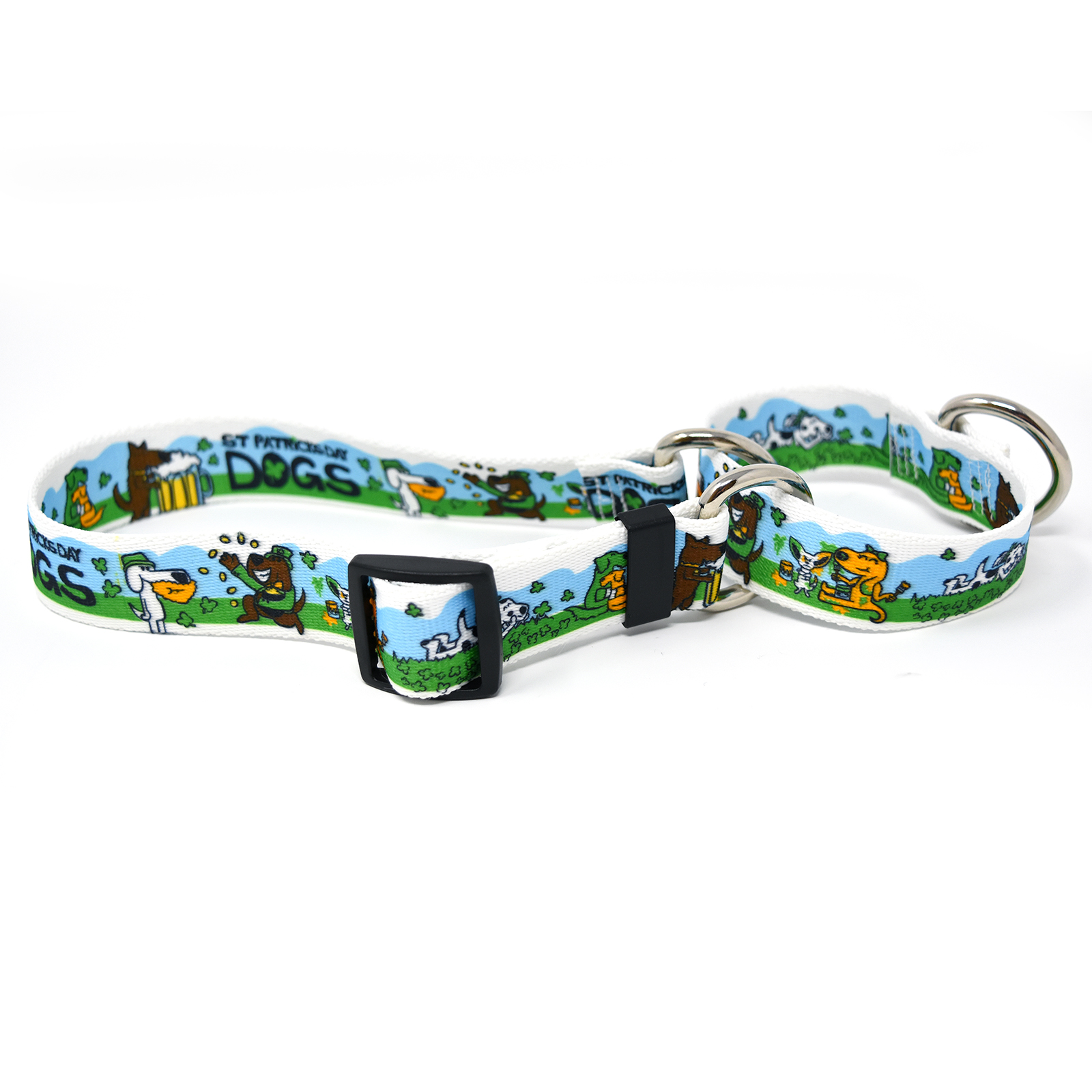 St Patricks Day Dogs Martingale Collar