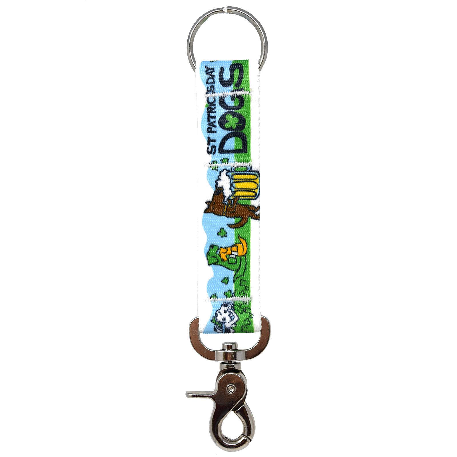 St Patricks Day Dogs keychain