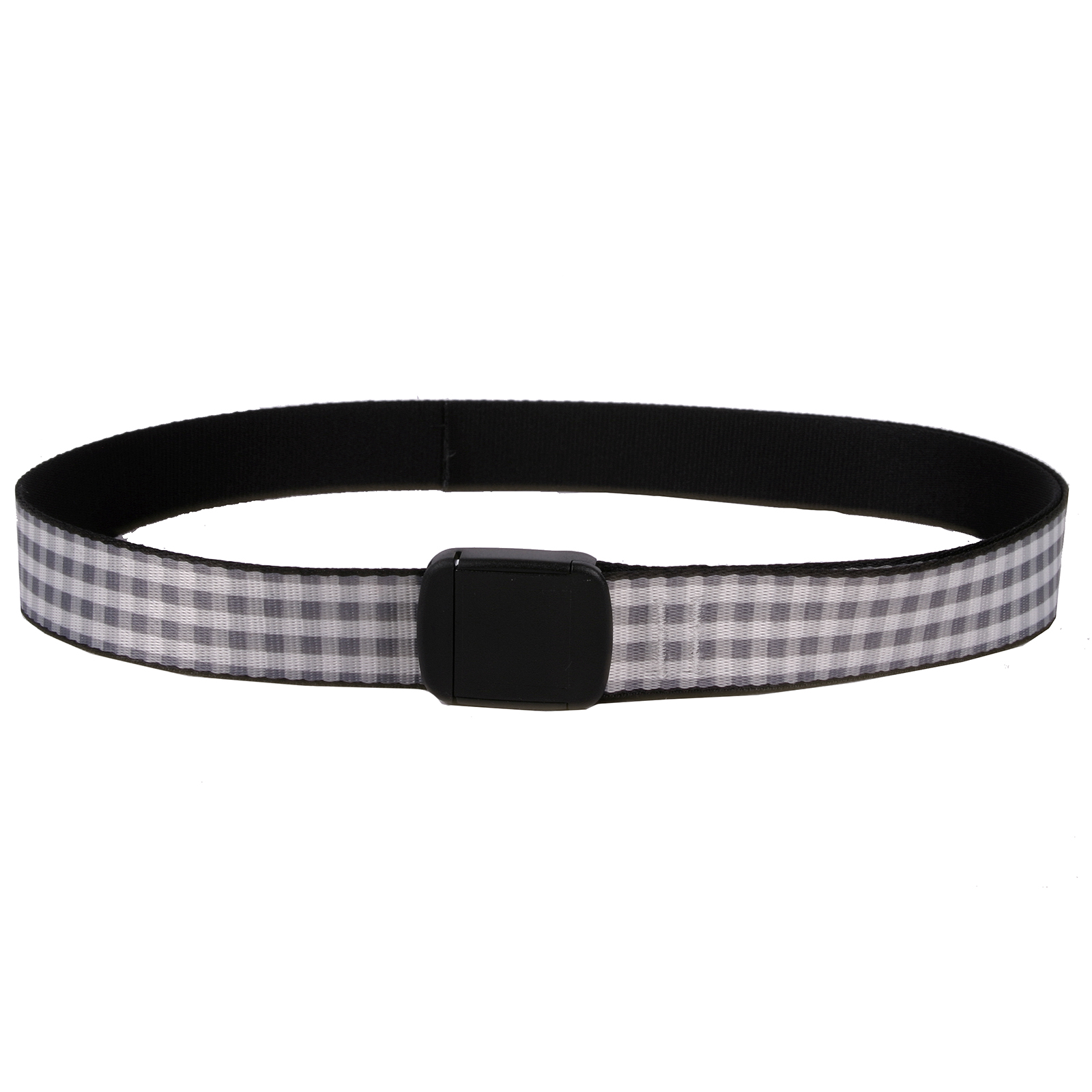 Southern Dawg: Gingham Gray Fashion Belt