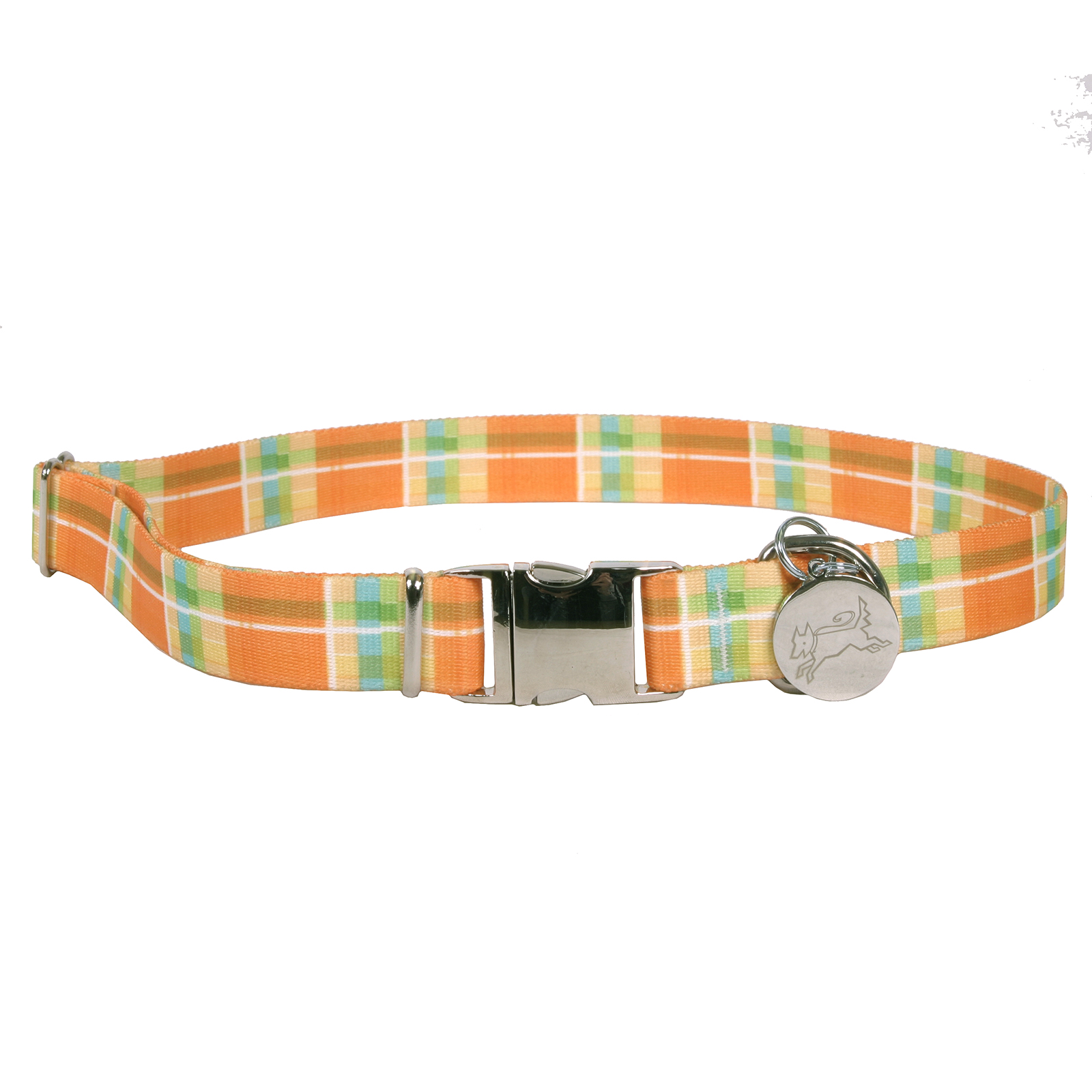 Southern Dawg: Madras Orange Premium Dog Collar