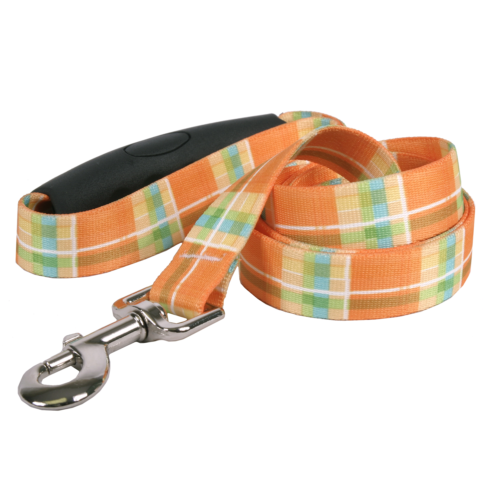 Southern Dawg: Madras Orange EZ-Grip Dog Leash