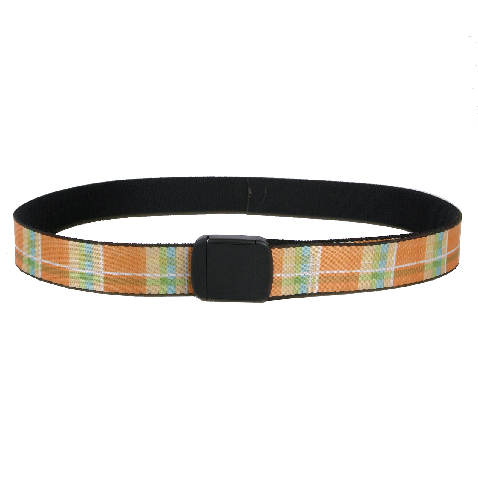 Southern Dawg: Madras Orange Fashion Belt