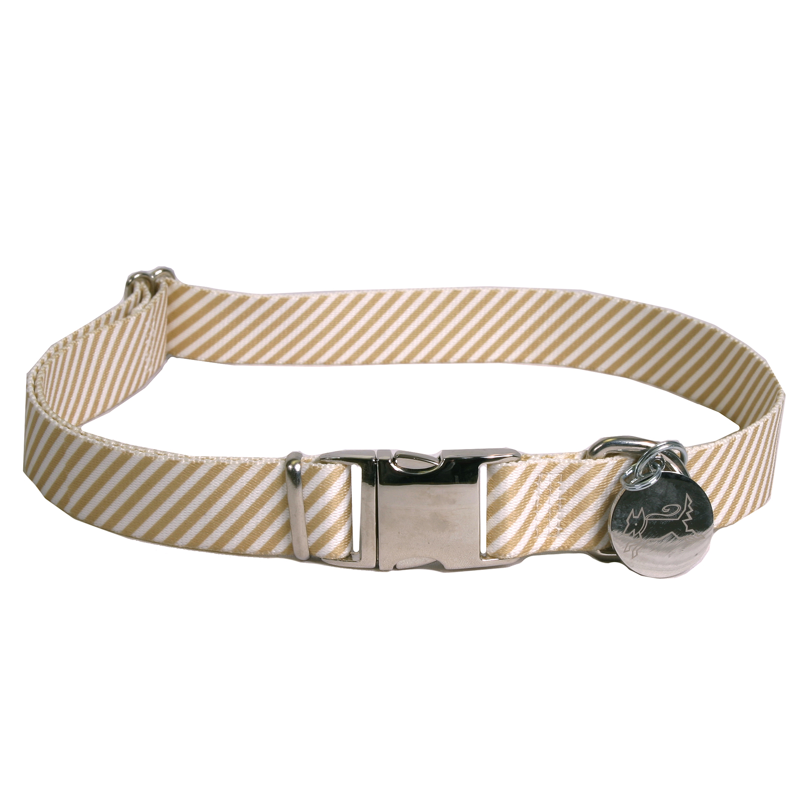Southern Dawg: Seersucker Brown Premium Dog Collar