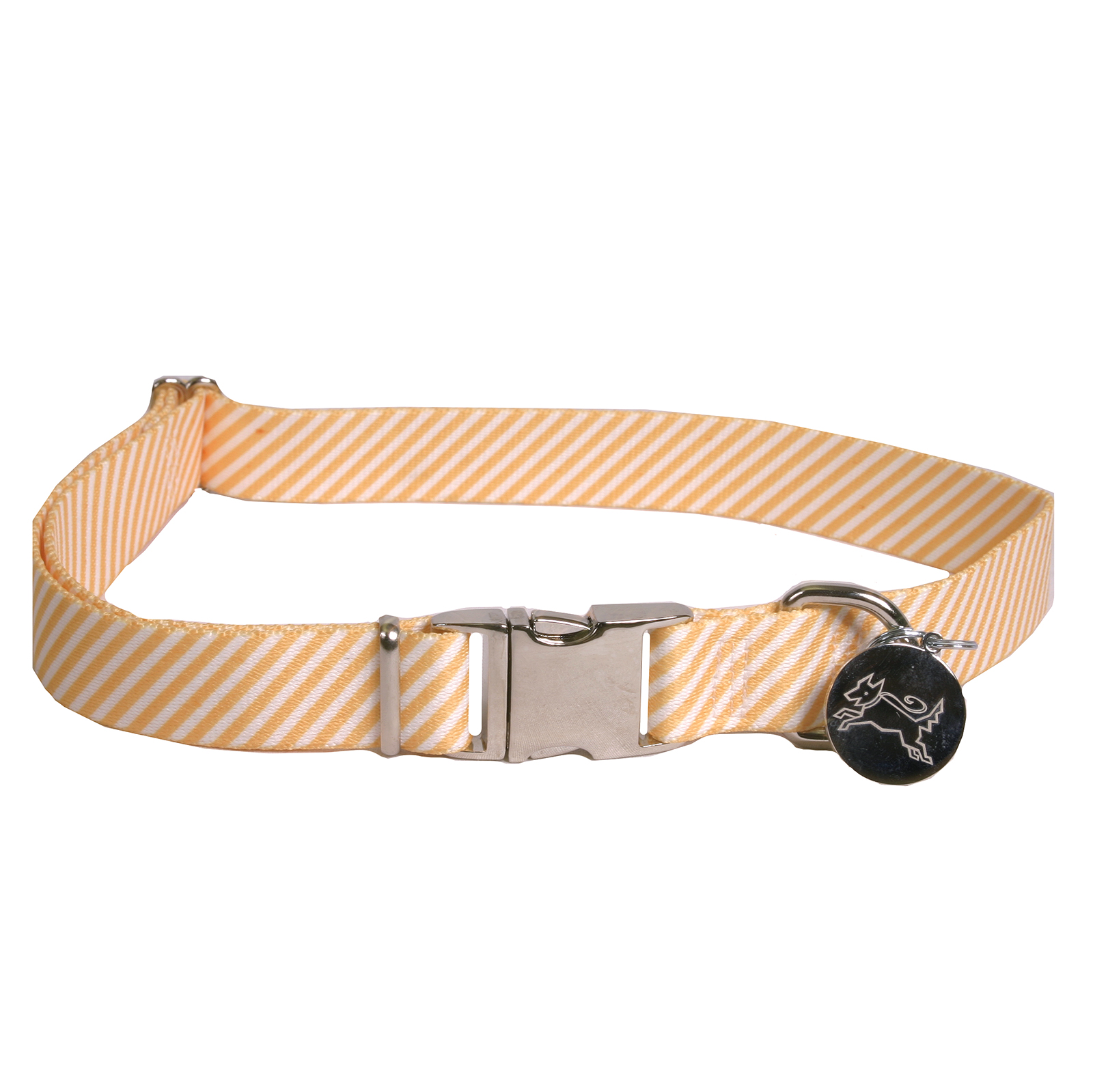Southern Dawg: Seersucker Orange Premium Dog Collar