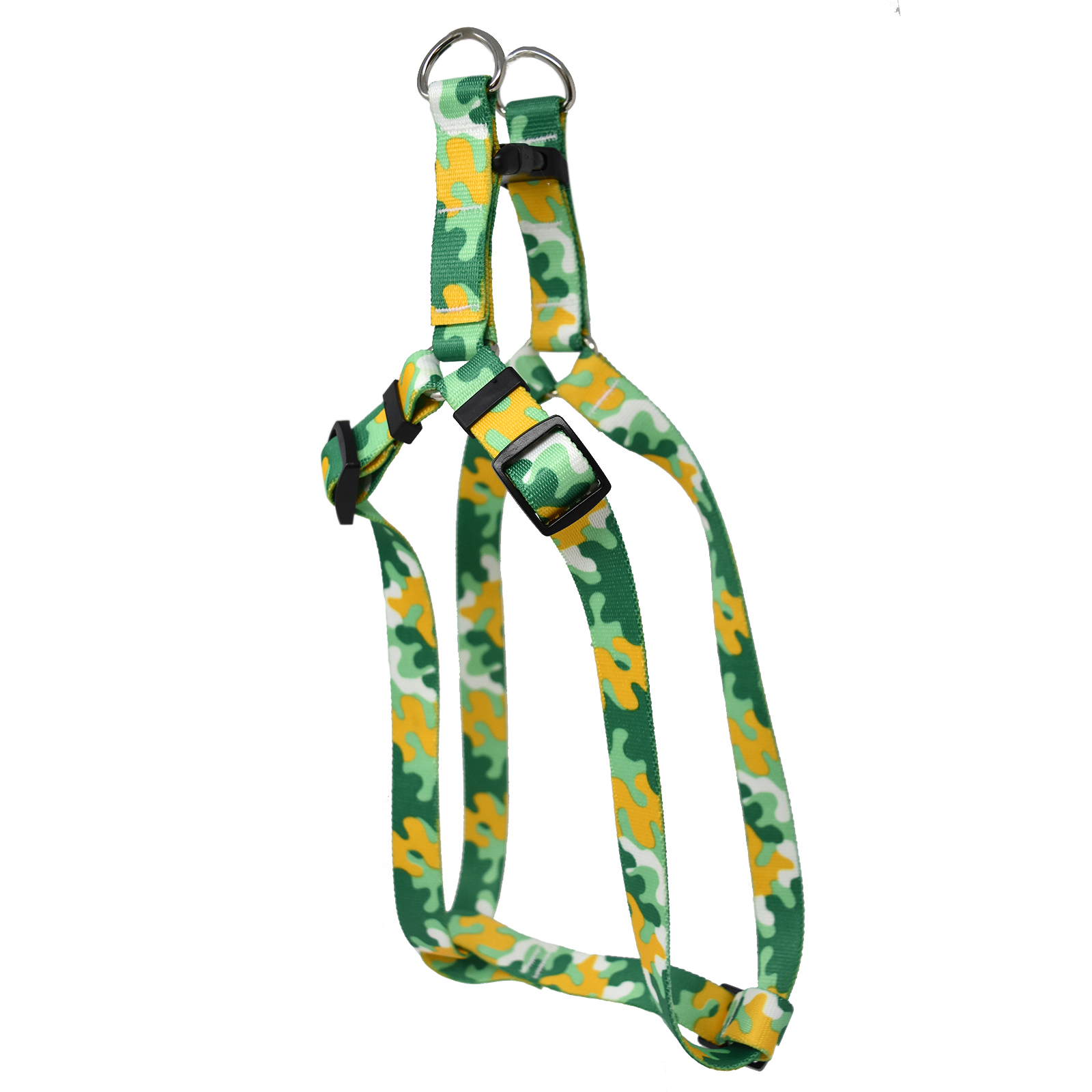 Gold & Green Camo Step-In Harness
