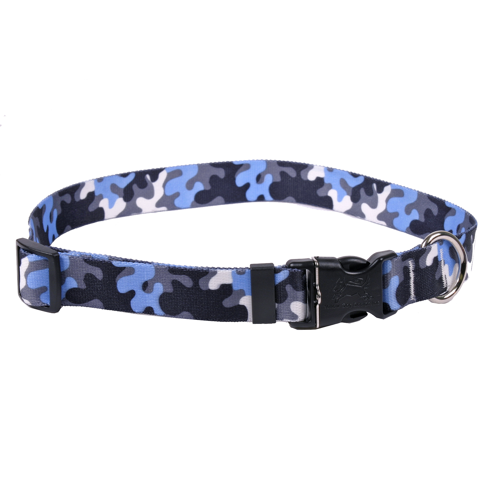 Light Blue & Black Camo Standard Collar