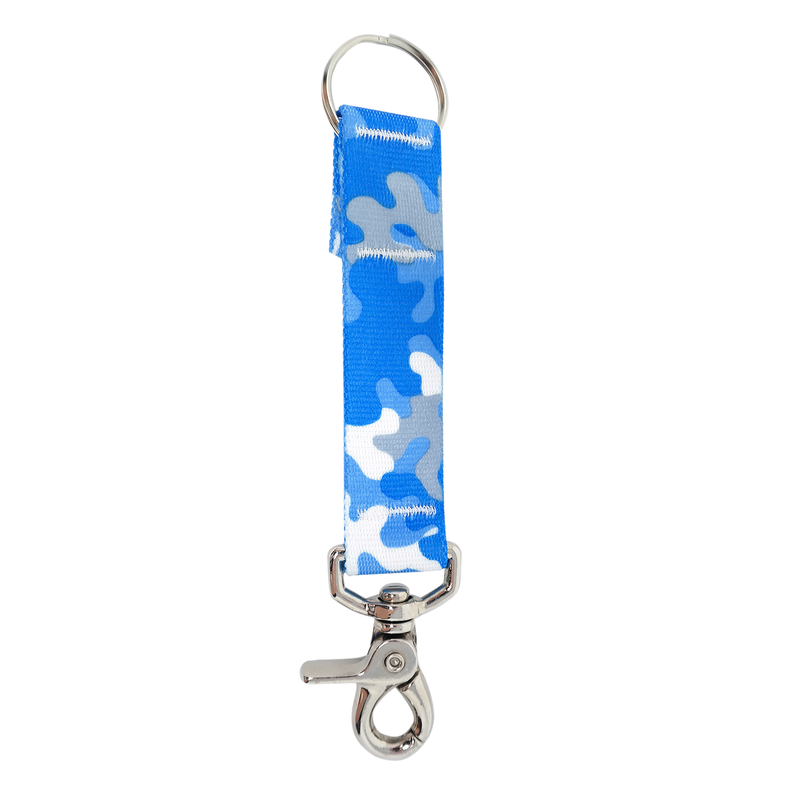 Light Blue & Grey Camo keychain