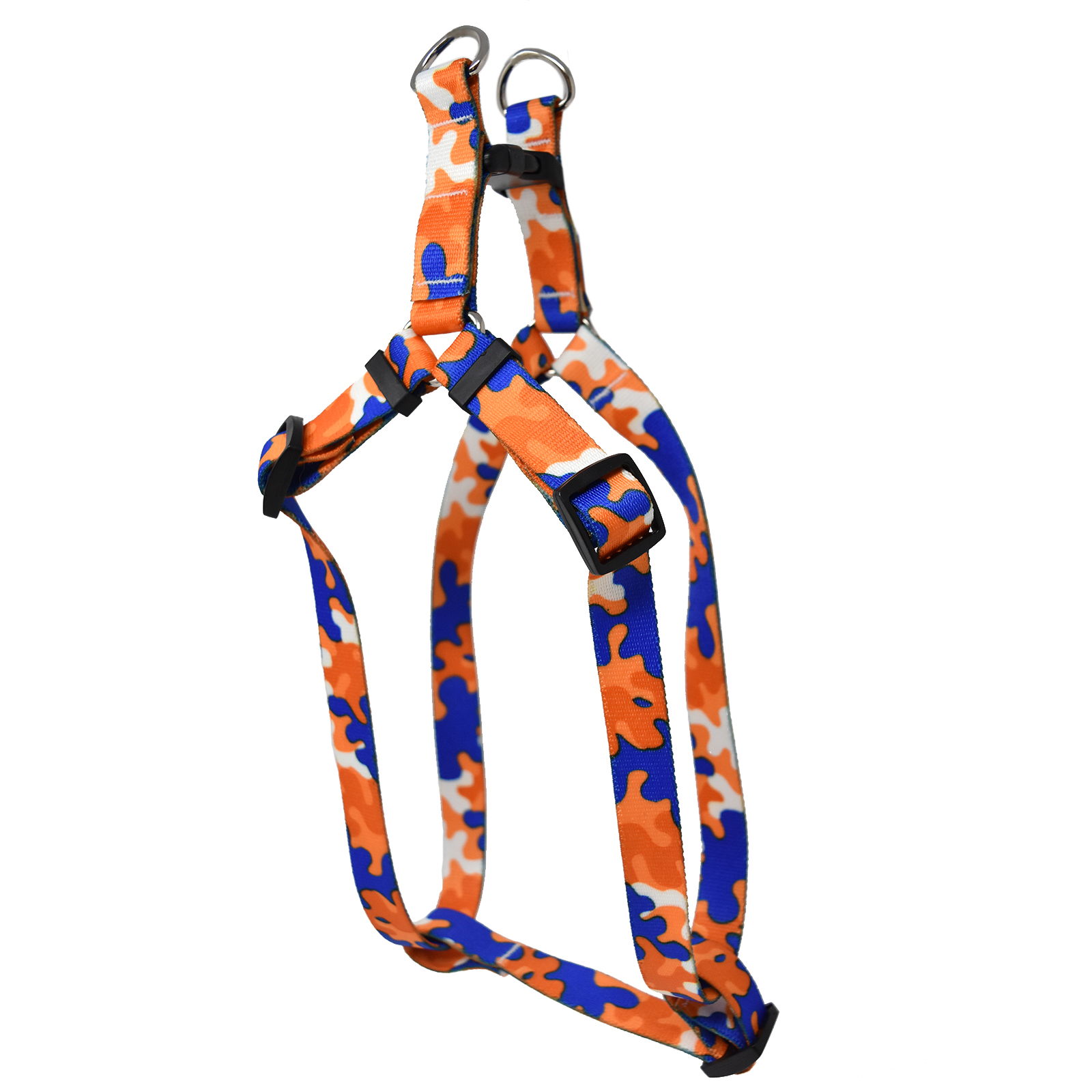 Orange & Royal Blue Camo Step-In Harness