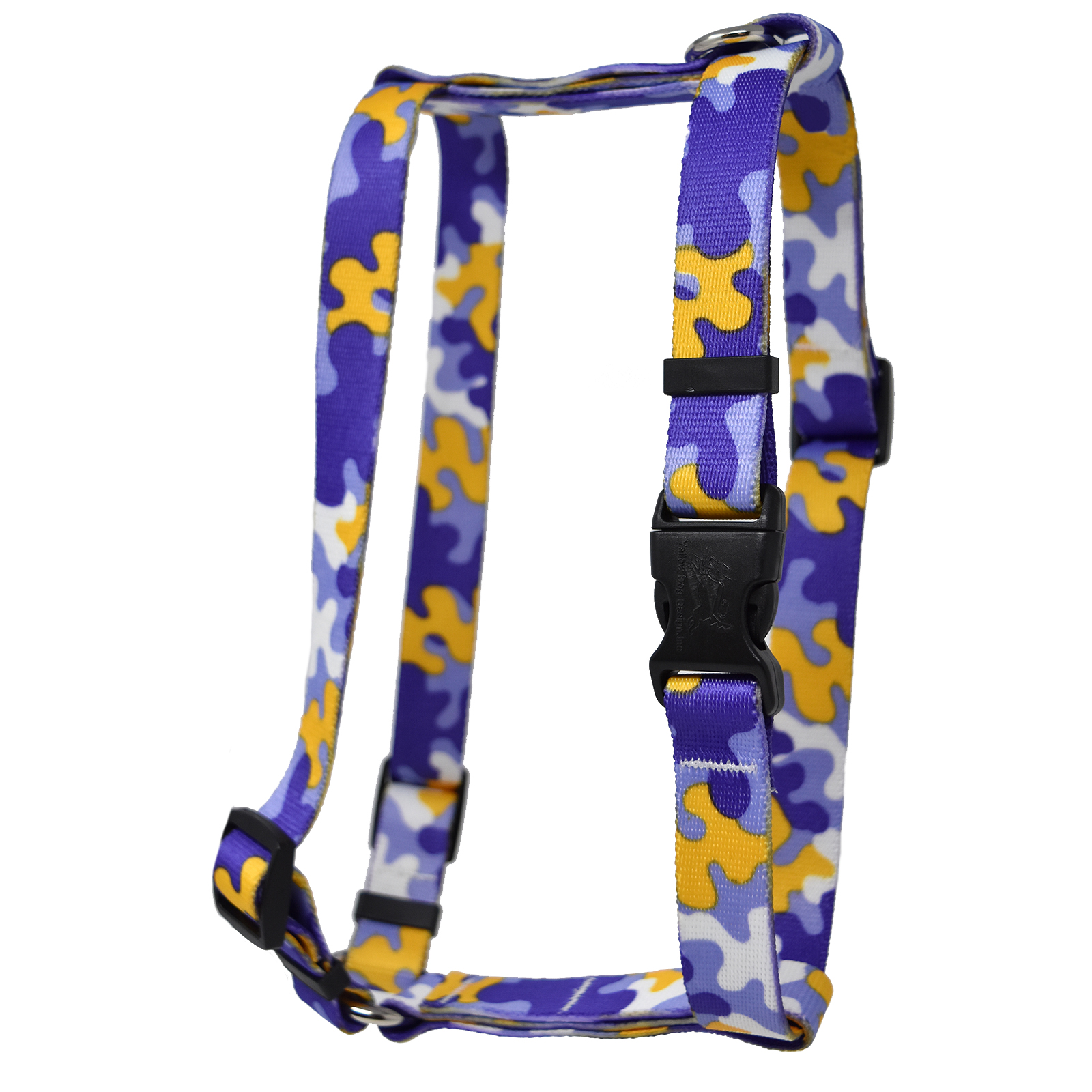 Purple & Gold Camo Roman H Harness