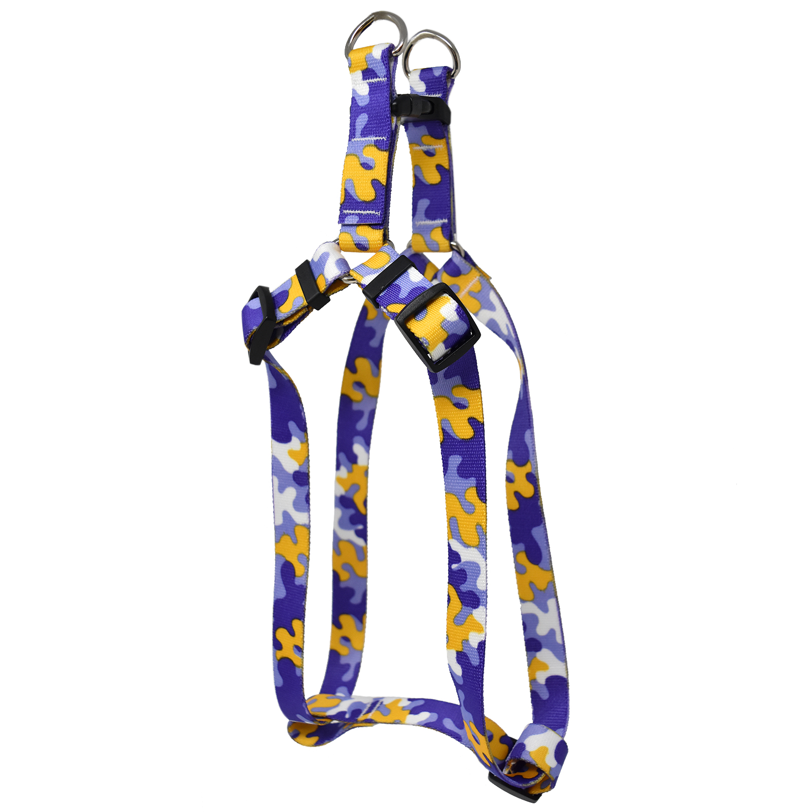 Purple & Gold Camo Step-In Harness