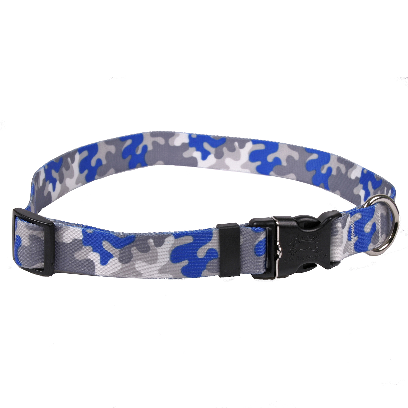 Royal Blue & Silver Camo Standard Collar